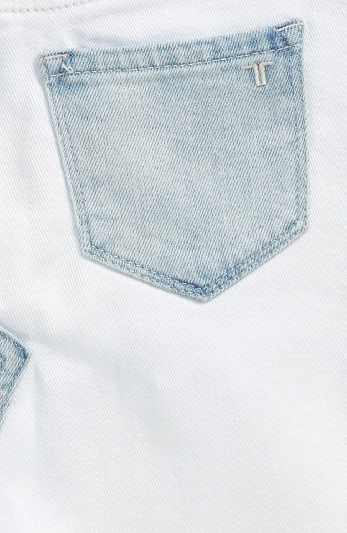 Patchwork Denim Skirt,                             Alternate thumbnail 3, color,                             White/ Indigo