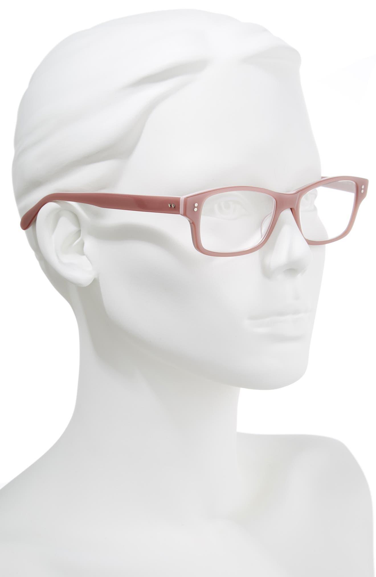 'Jess' 52mm Reading Glasses,                             Alternate thumbnail 2, color,                             Pink