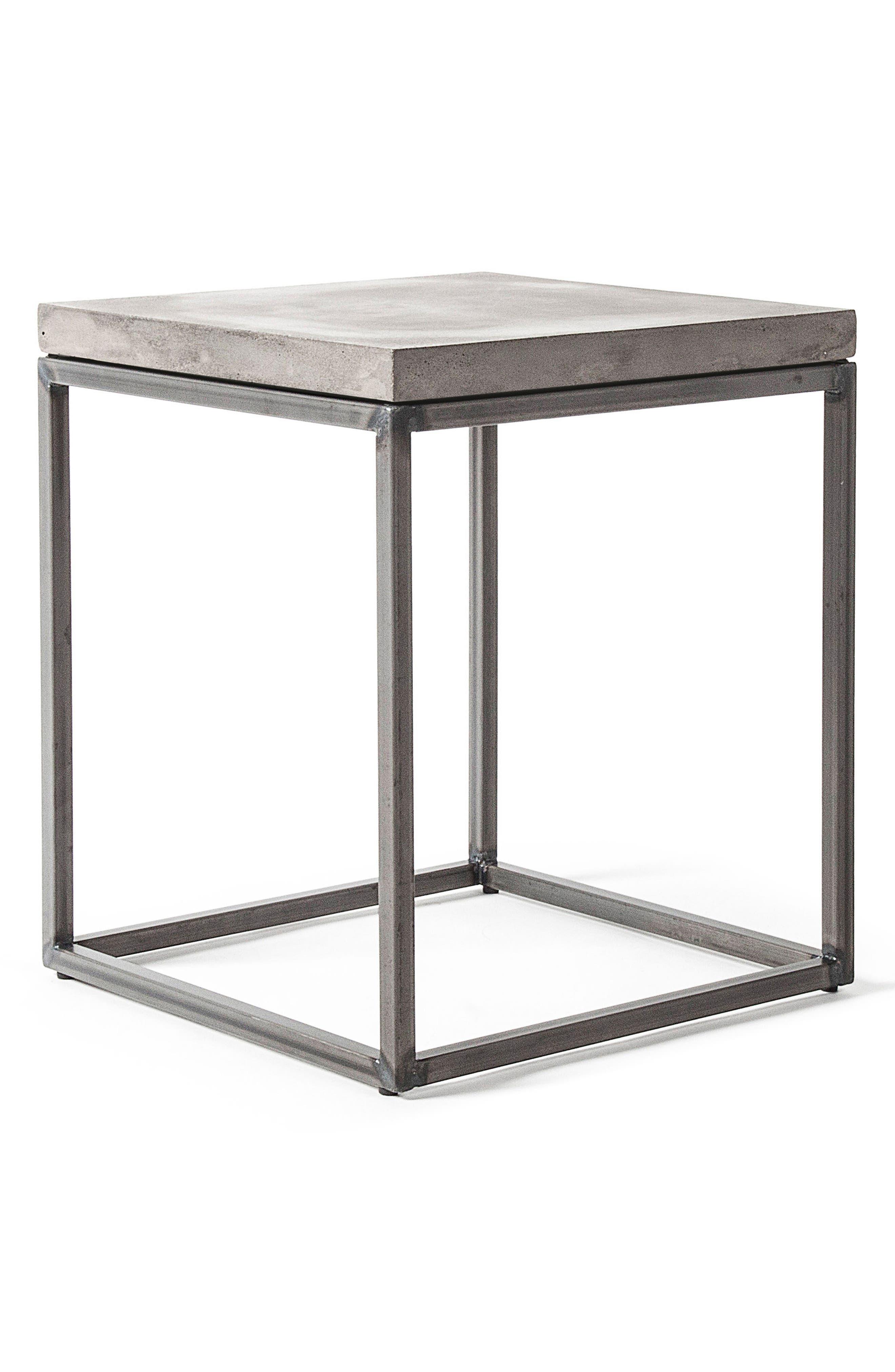 Lyon Béton Perspective Side Table,                             Alternate thumbnail 5, color,                             Cement