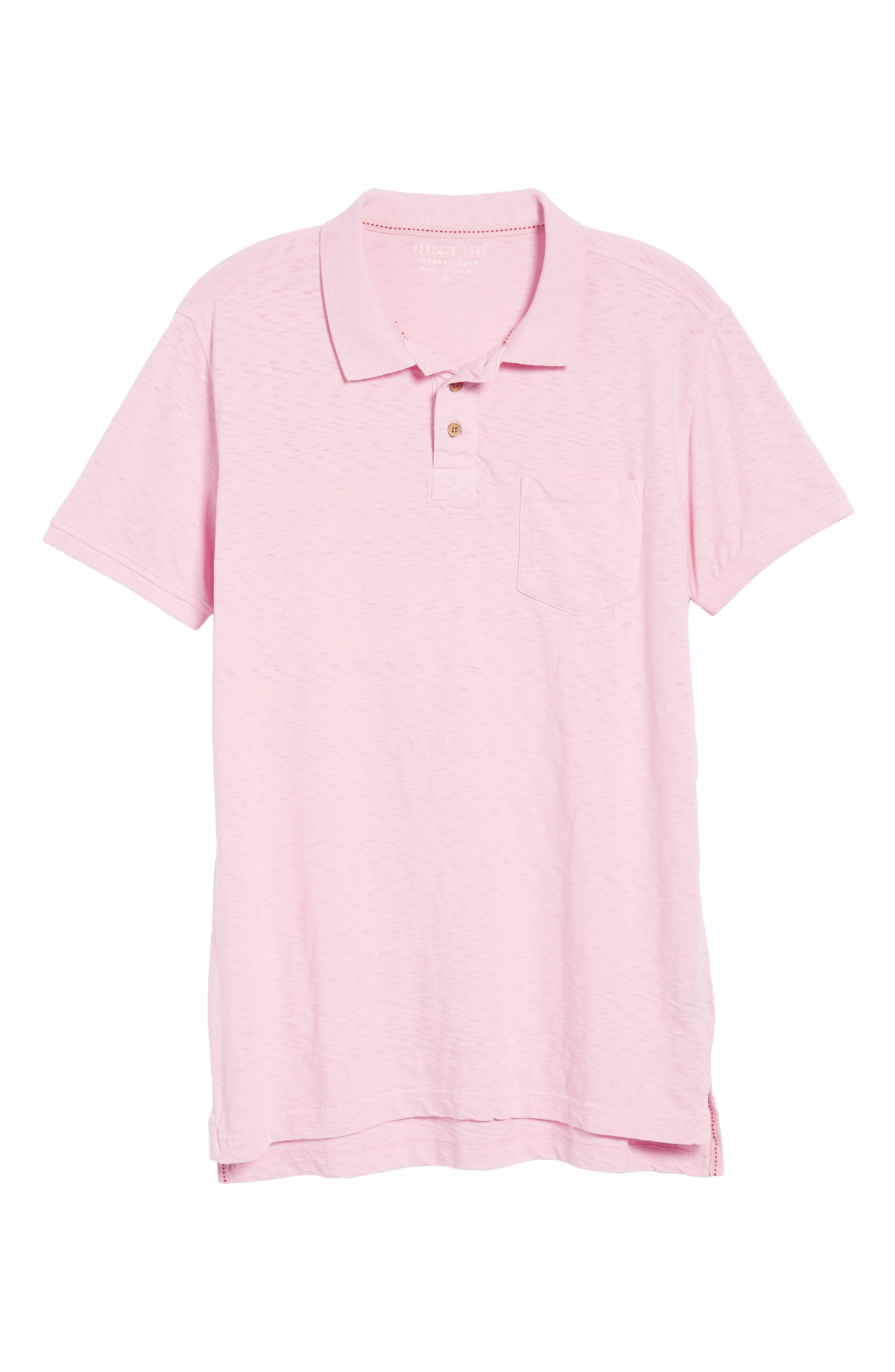 Slub Polo,                             Alternate thumbnail 6, color,                             Pink