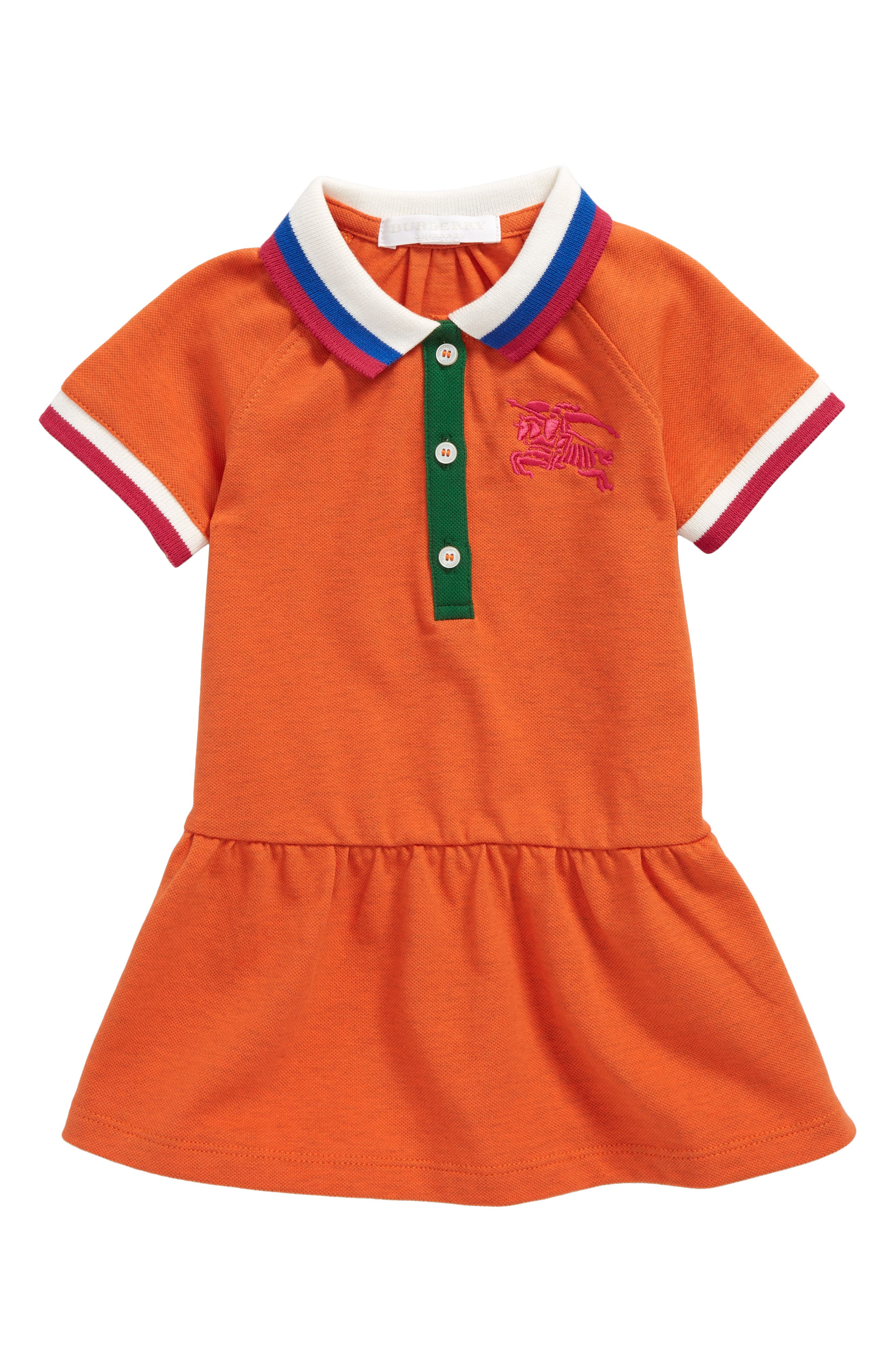 Main Image - Burberry Mini Cali Polo Dress (Baby Girls)