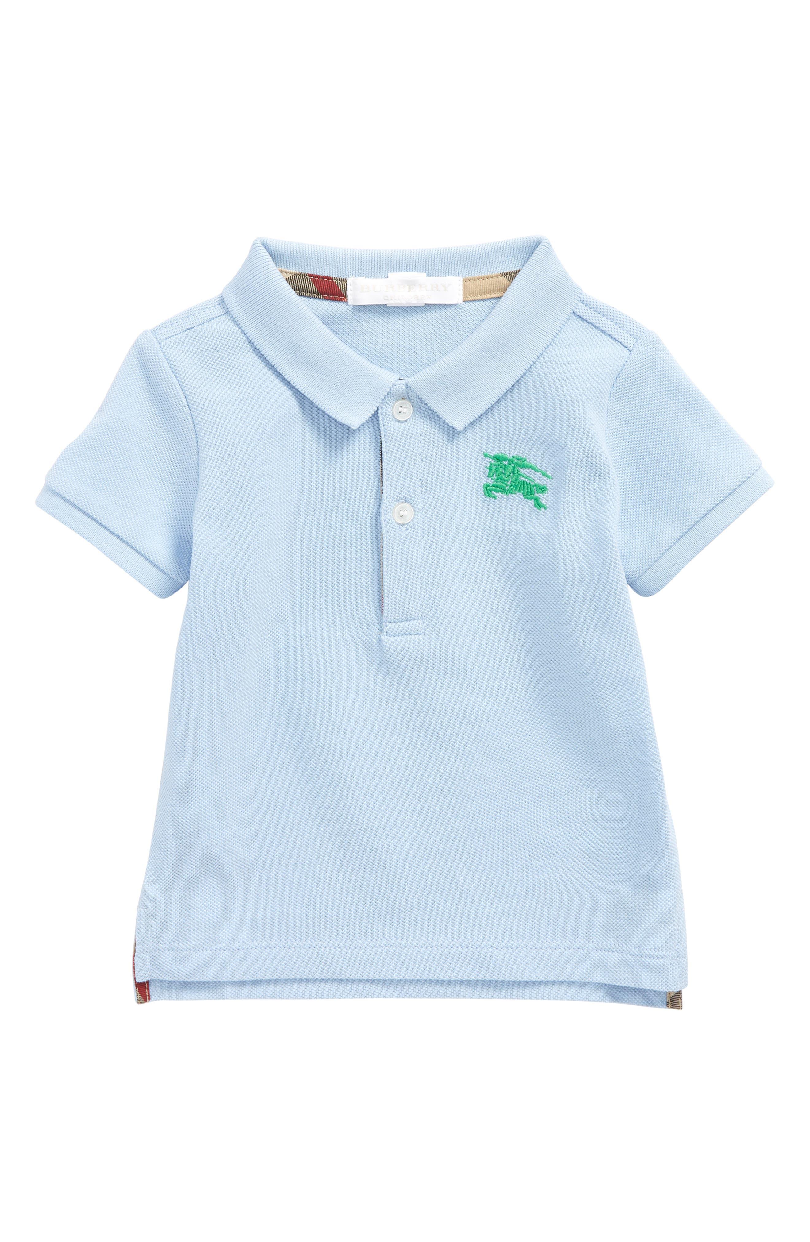 Palmer Cotton Piqué Polo,                         Main,                         color, Sky Blue