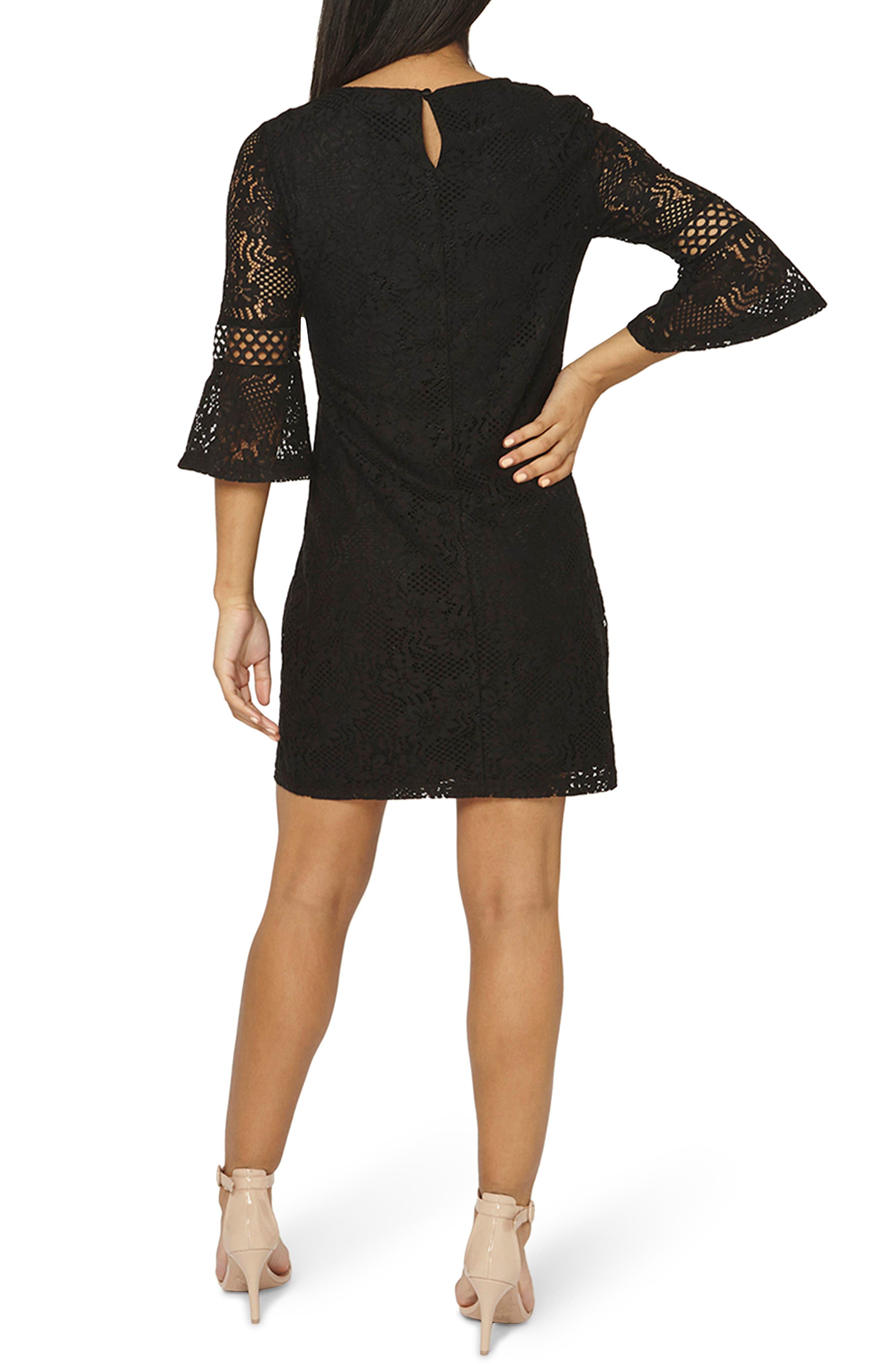 Alternate Image 3  - Dorothy Perkins Lace Flare Cuff Shift Dress