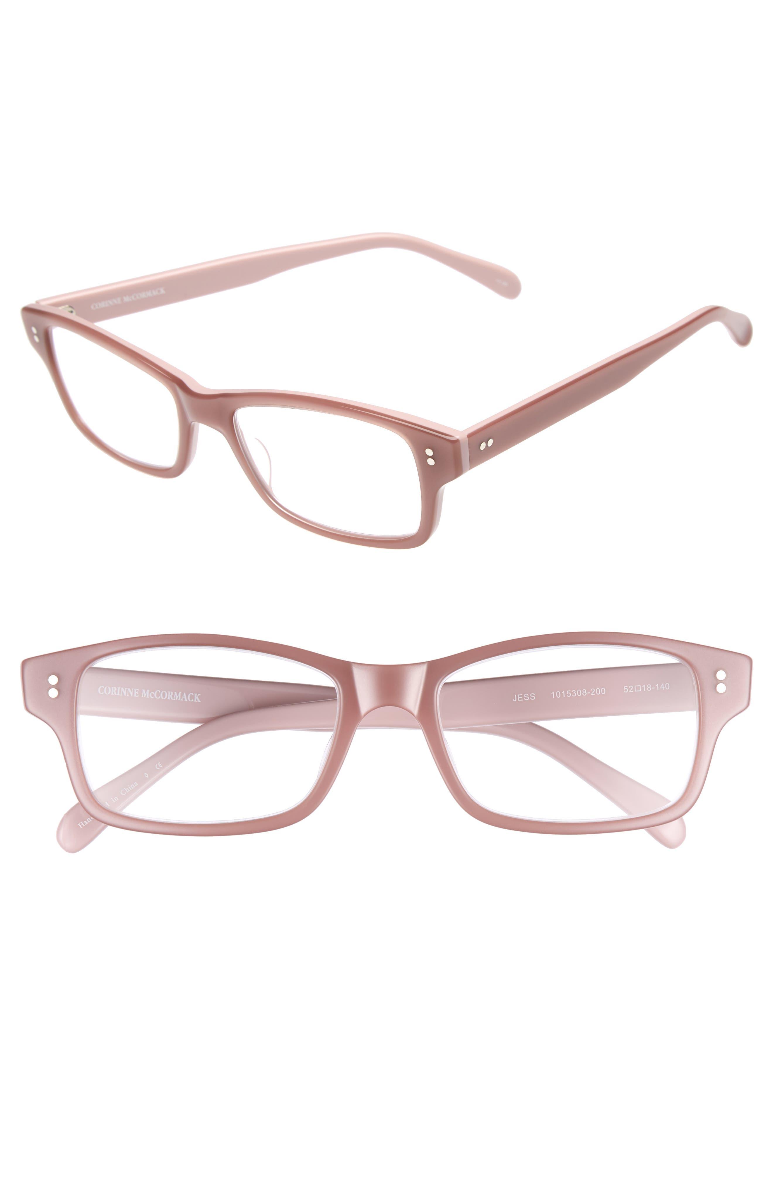 'Jess' 52mm Reading Glasses,                             Main thumbnail 1, color,                             Pink