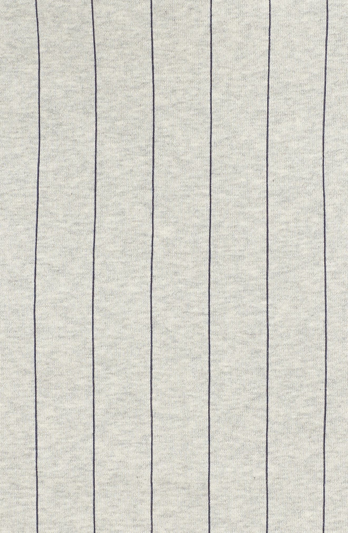Francesca Pinstripe Skirt,                             Alternate thumbnail 7, color,                             Light Grey Marl/ Peacoat