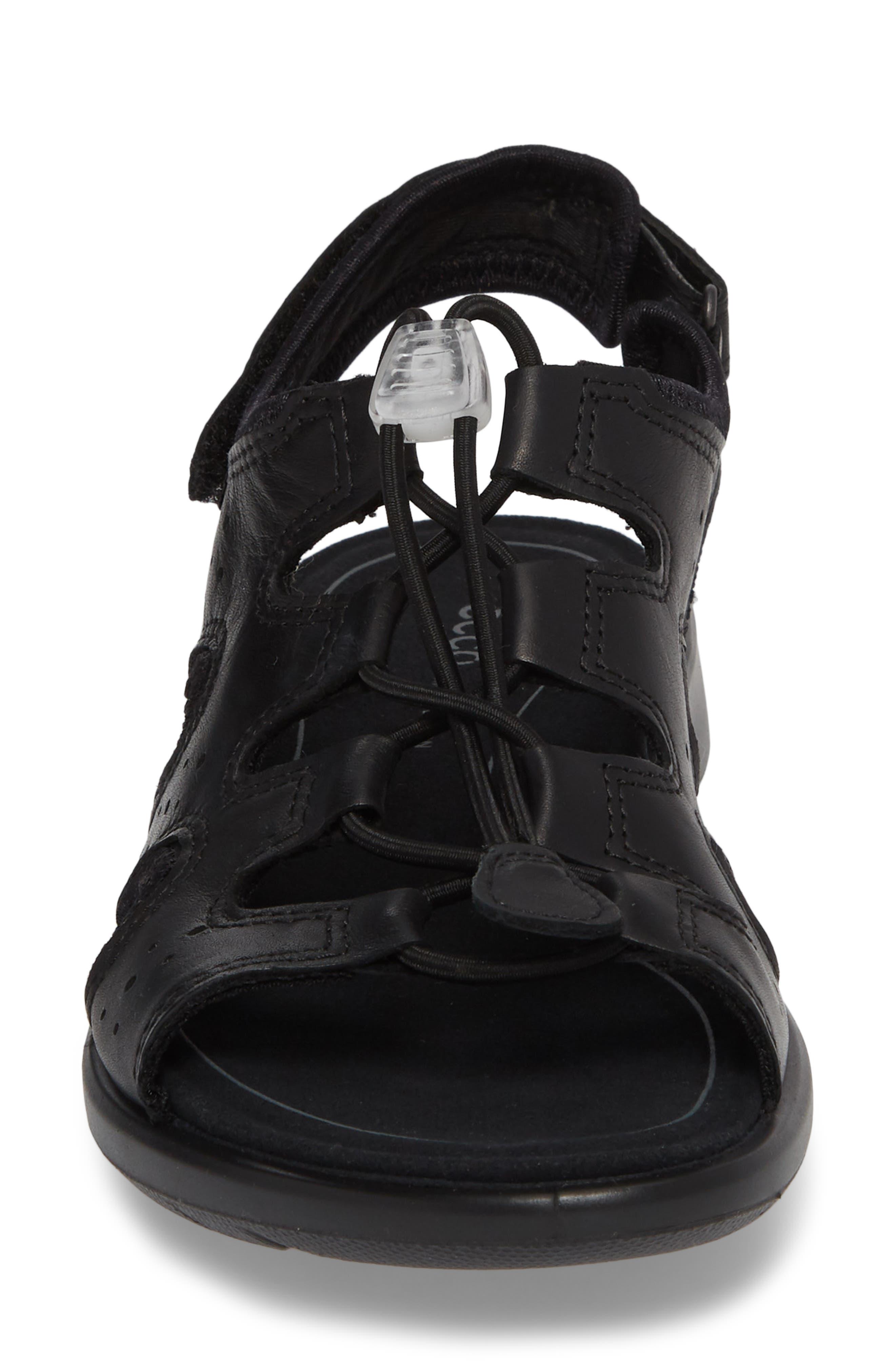 Bluma Toggle Sandal,                             Alternate thumbnail 4, color,                             Black Leather