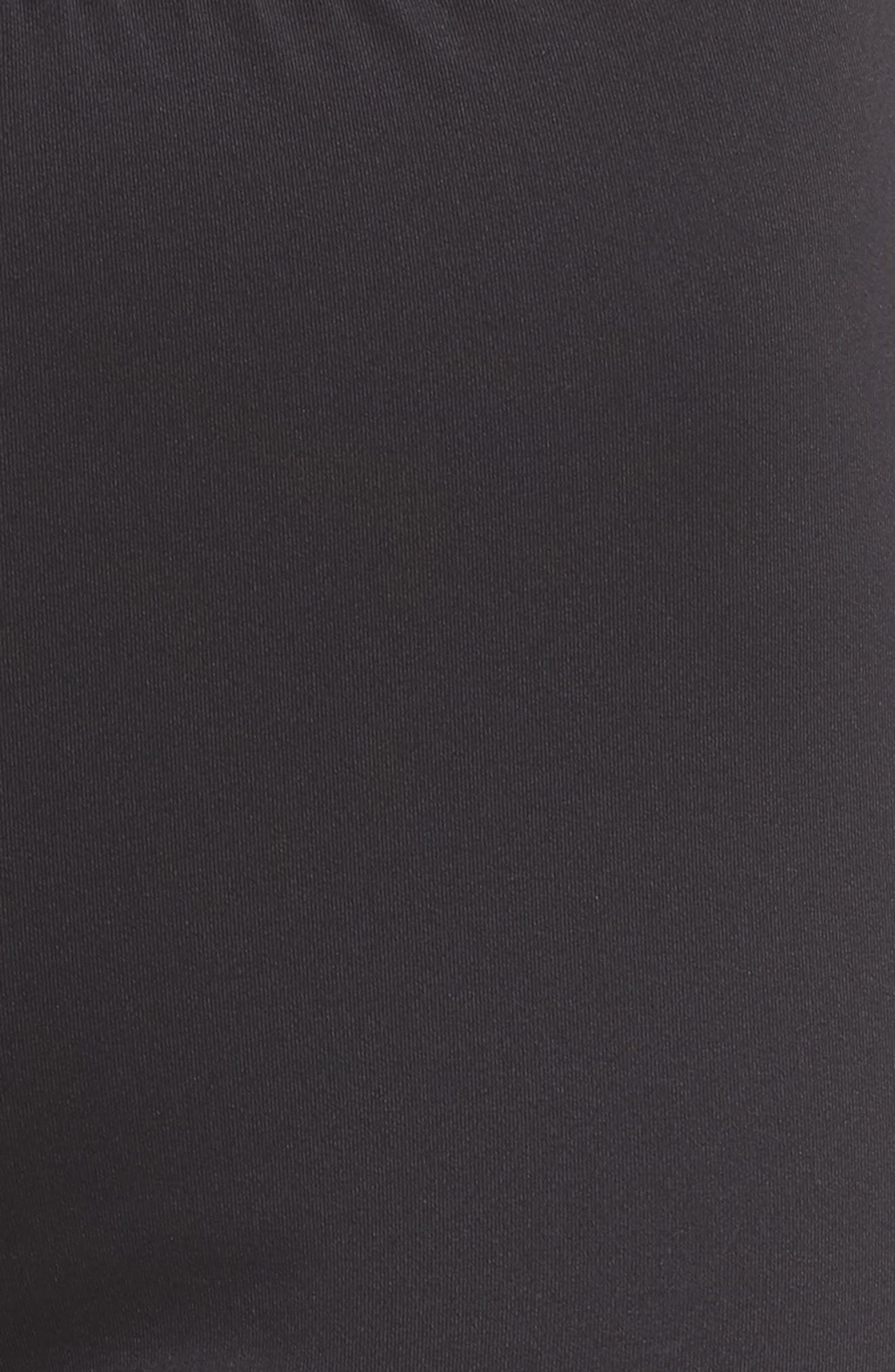 Banda Leggings,                             Alternate thumbnail 6, color,                             Black/ White