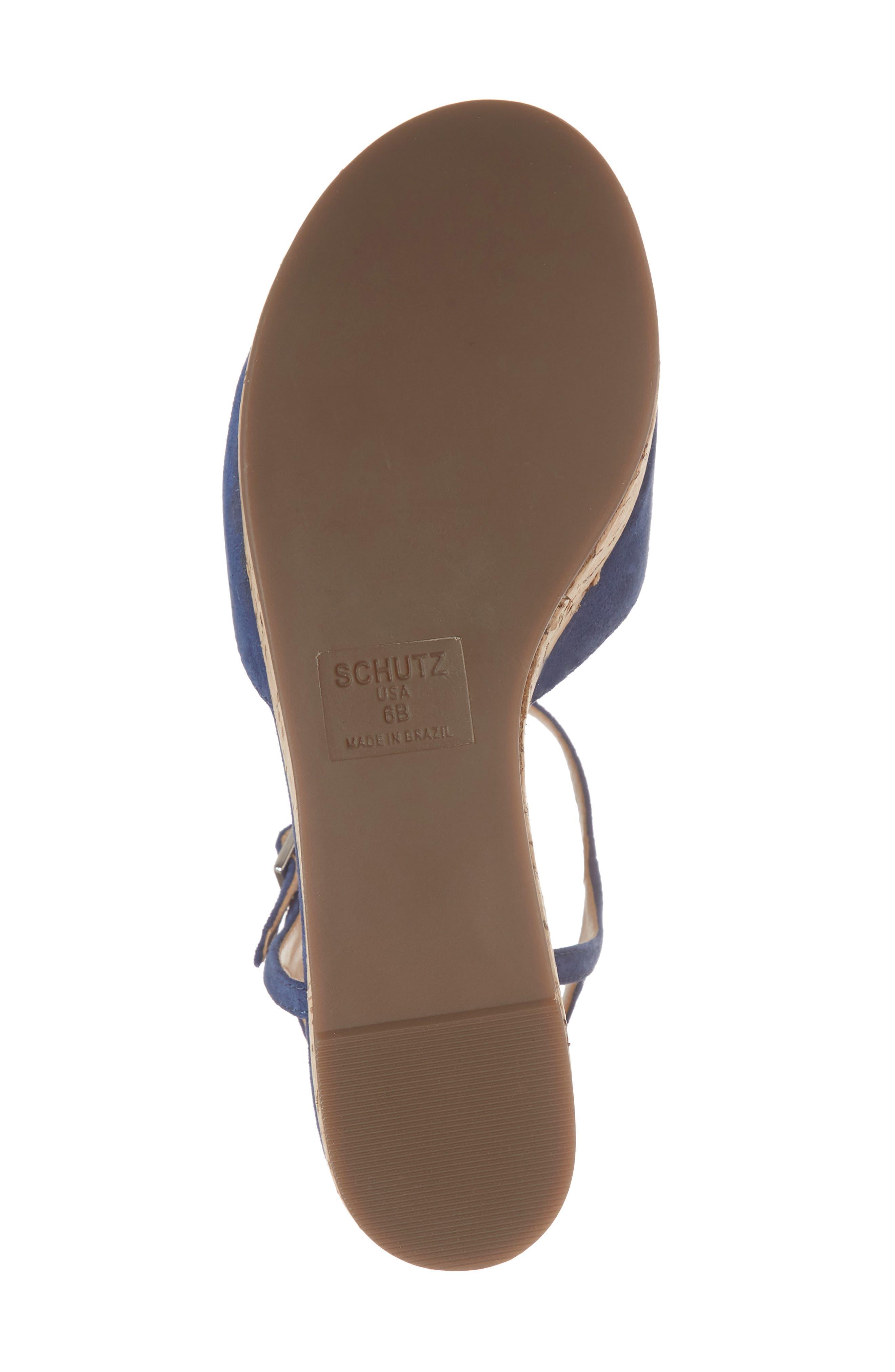 Heloise Platform Wedge Sandal,                             Alternate thumbnail 6, color,                             Dress Blue