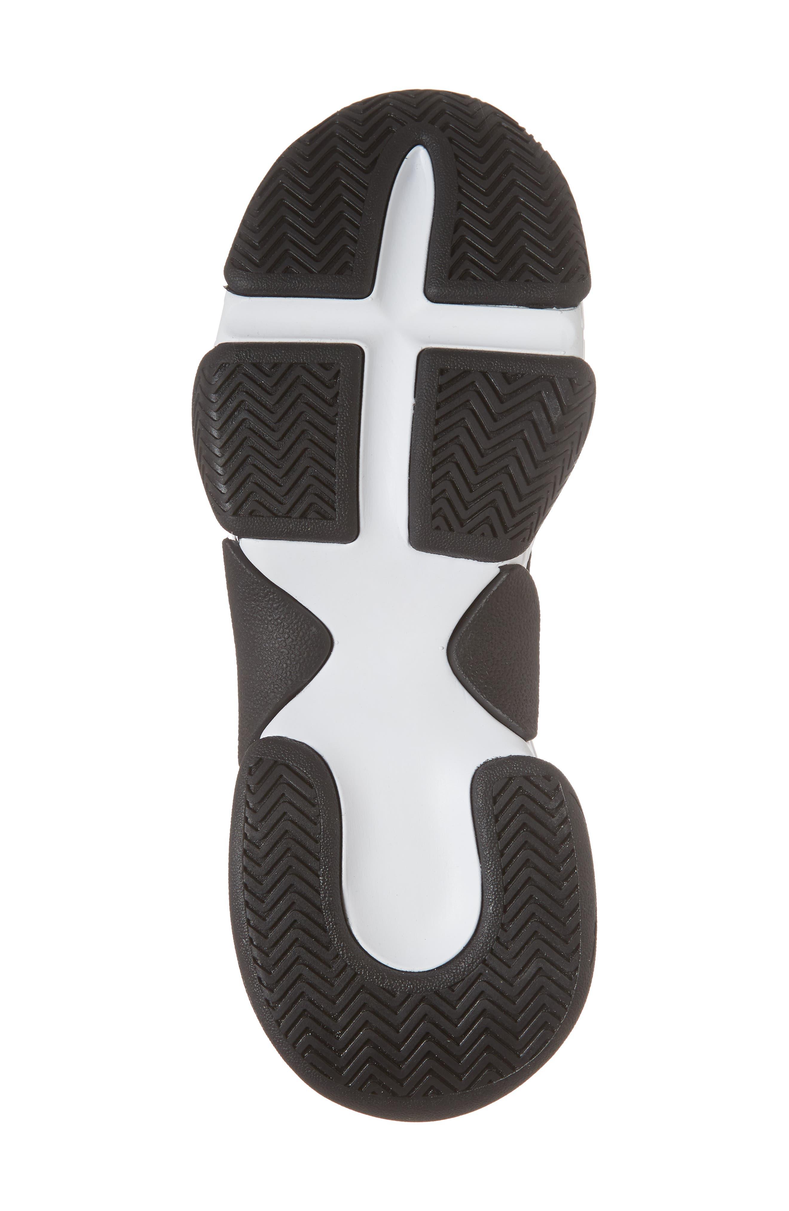 Tenko Ankle High Top Sock Sneaker,                             Alternate thumbnail 6, color,                             Black/ White Stripe Fabric