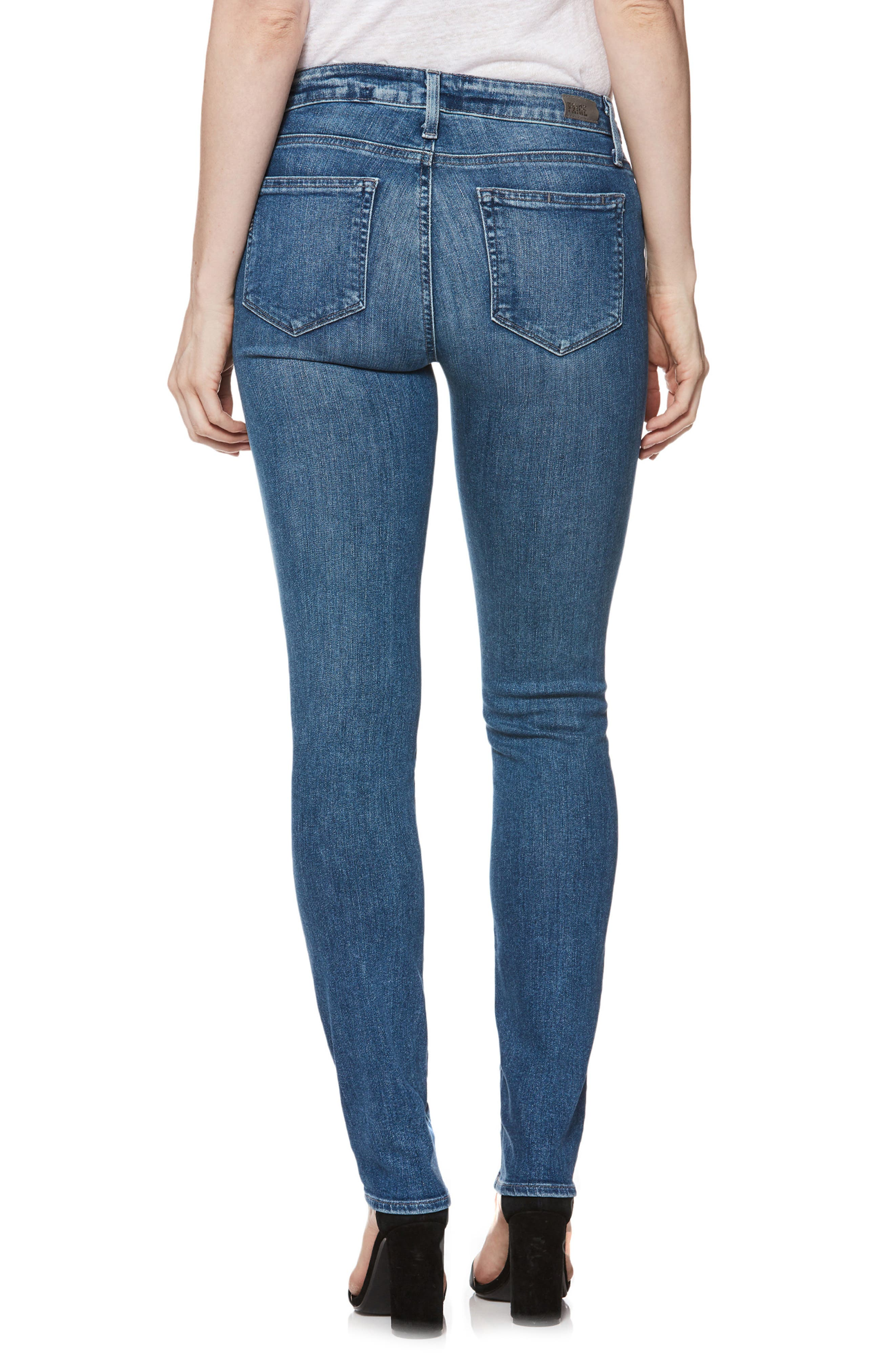 Transcend Vintage - Skyline Skinny Jeans,                             Alternate thumbnail 2, color,                             Bloomfield