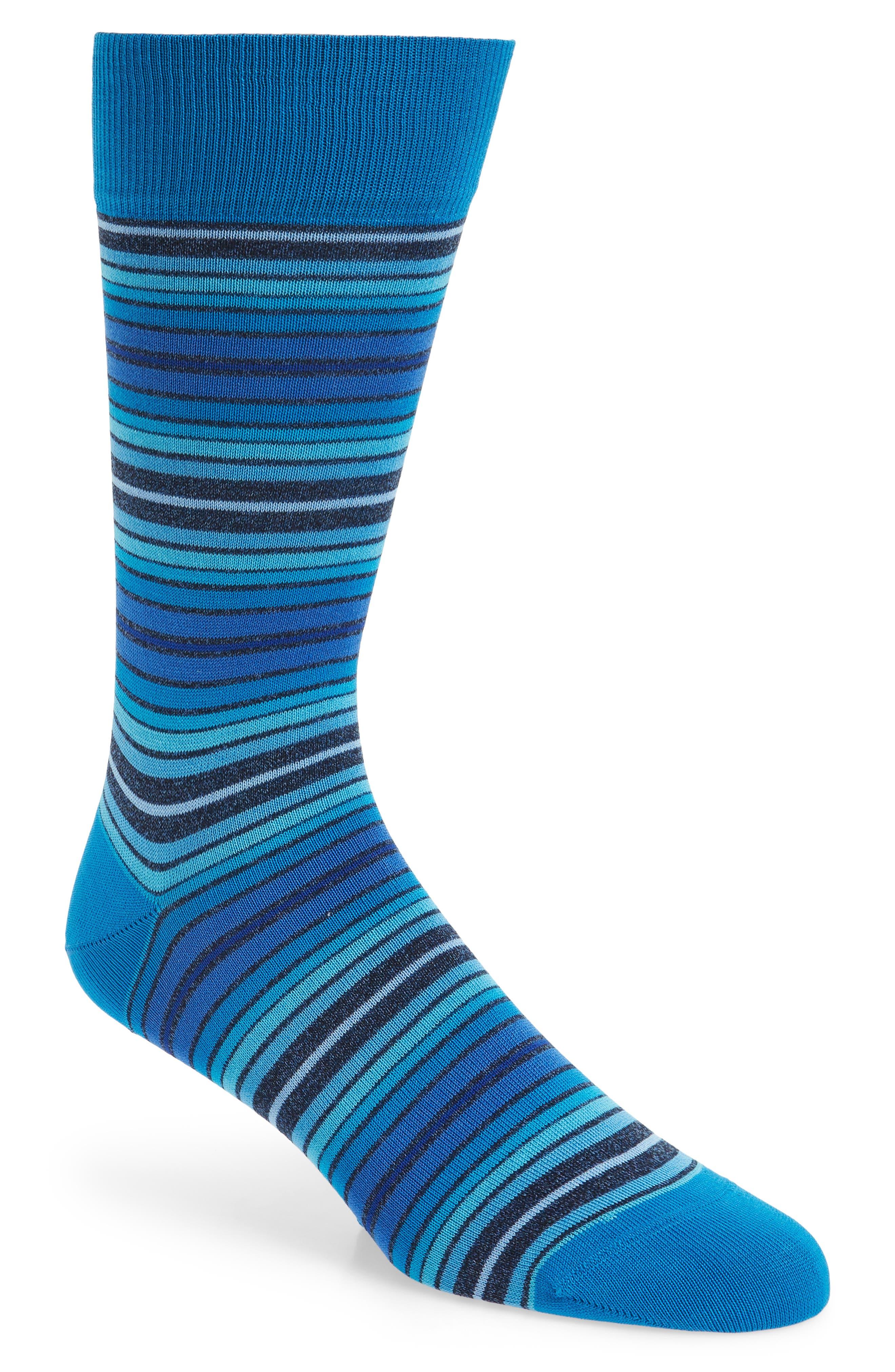 Cotton Blend Socks,                         Main,                         color, Aqua