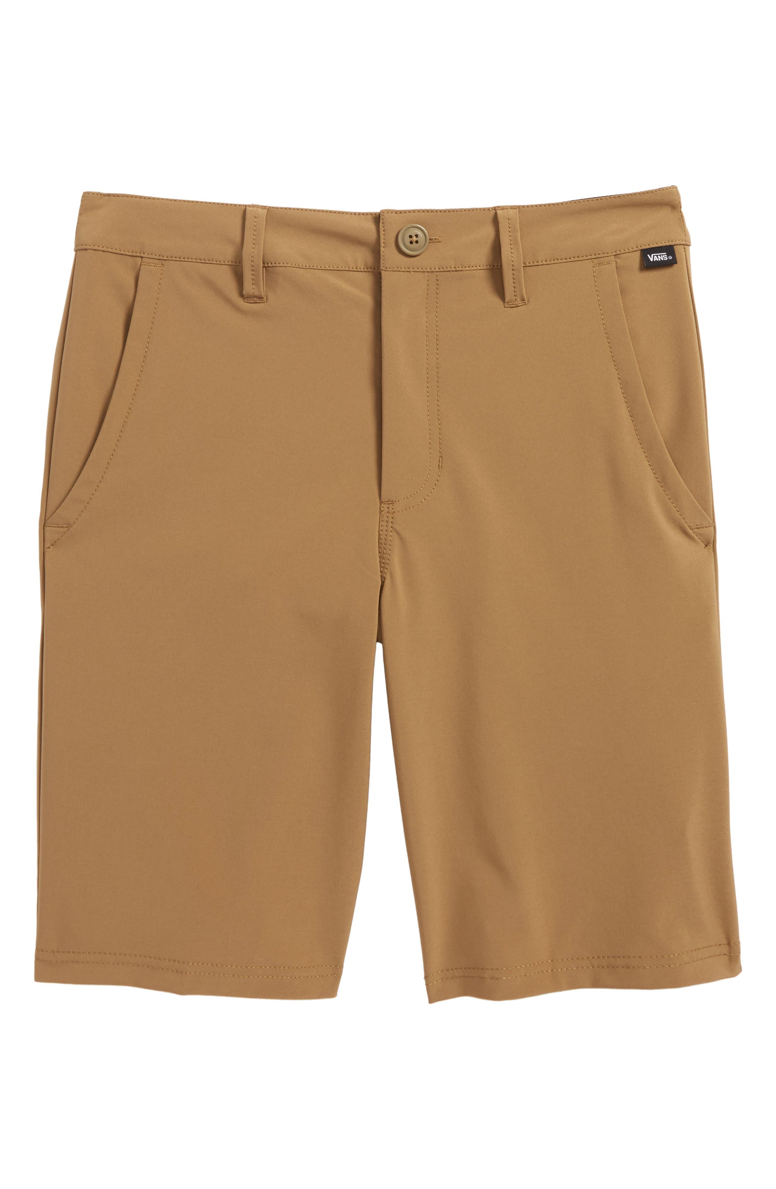 Authentic Decksider Hybrid Shorts,                         Main,                         color, Dirt