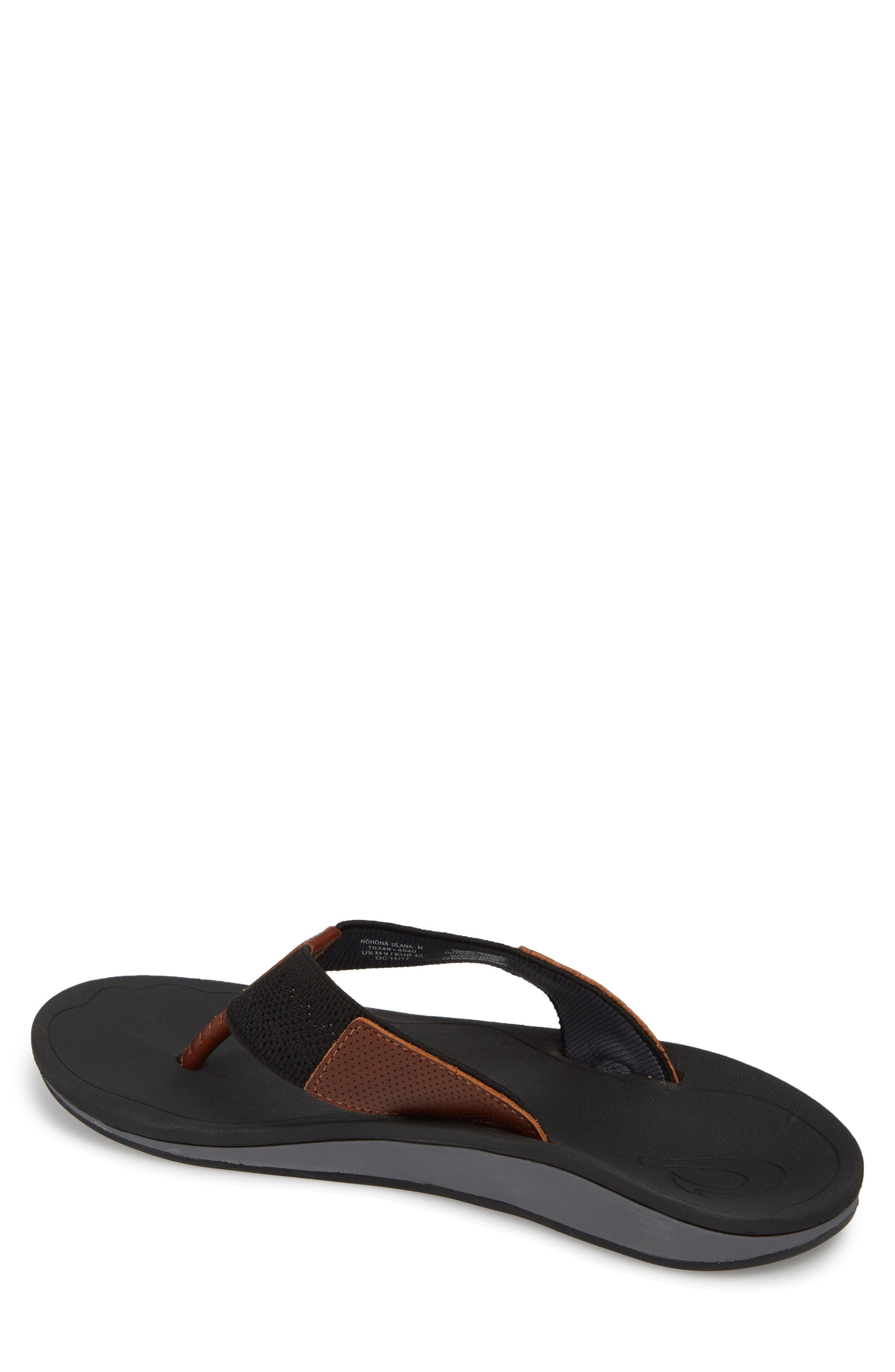 Nohona Ulana Flip Flop,                             Alternate thumbnail 2, color,                             Black/ Black Leather