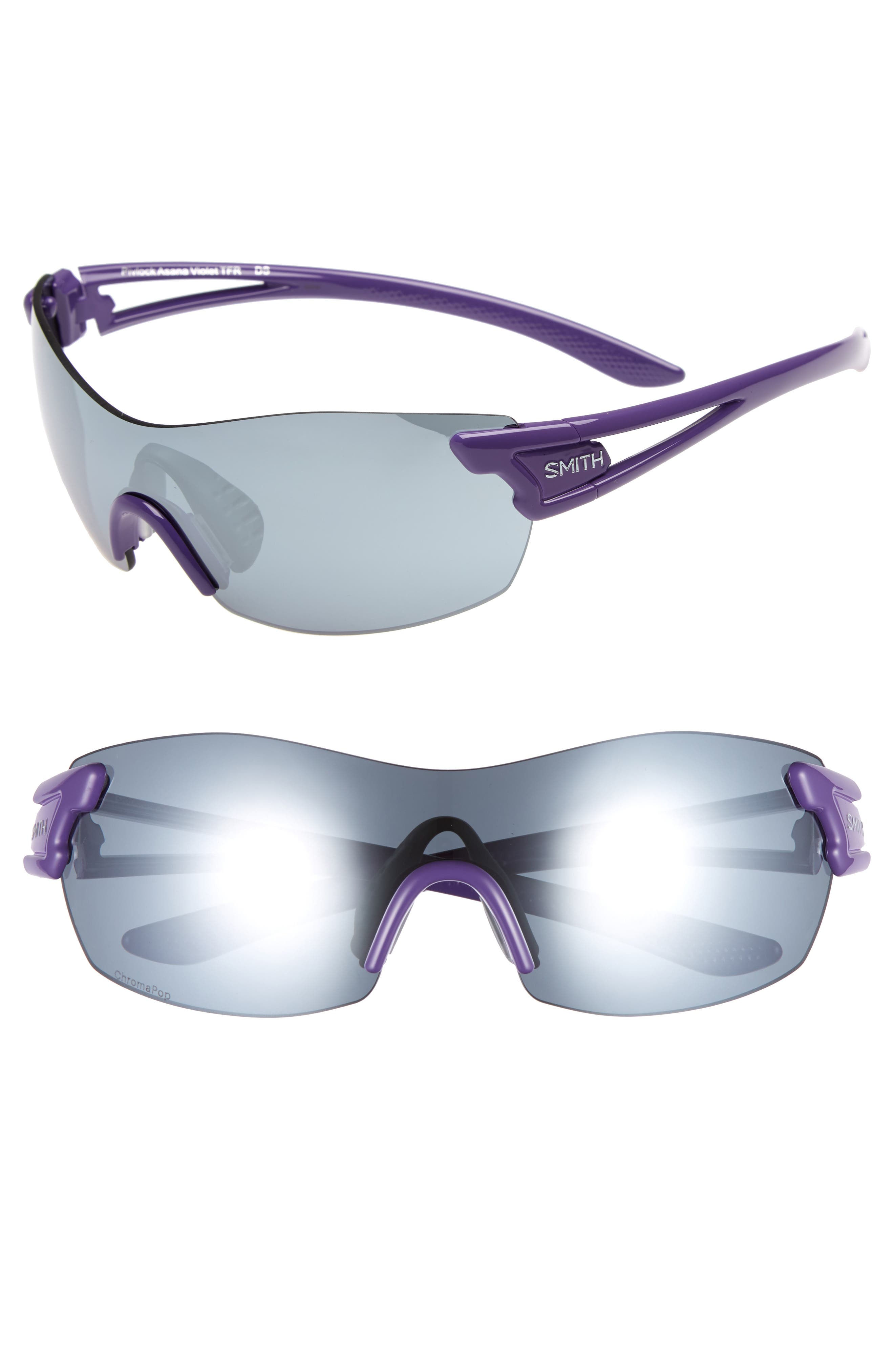 PivLock<sup>™</sup> Asana 150mm ChromaPop Polarized Sunglasses,                             Main thumbnail 1, color,                             Violet