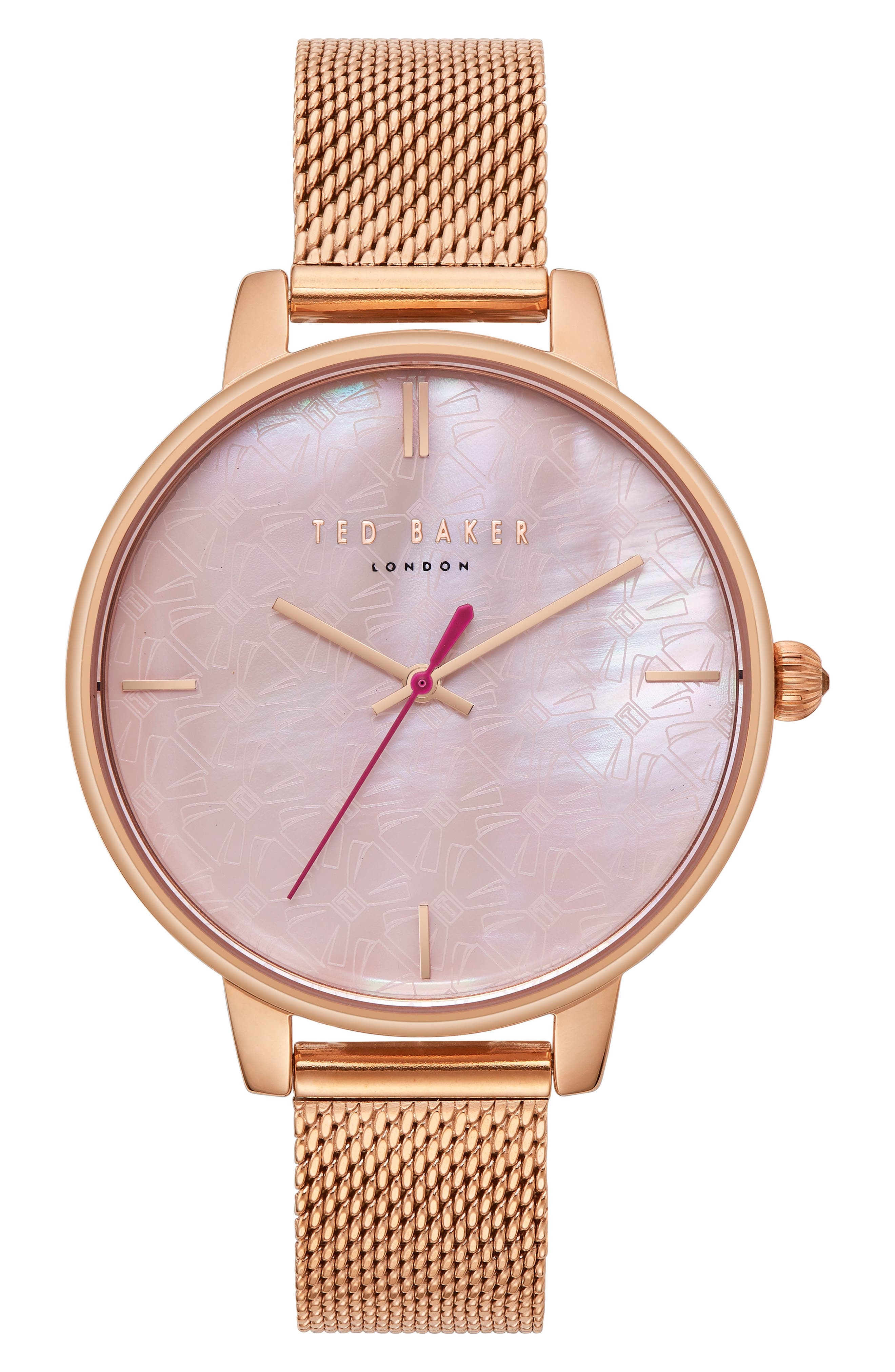 Kate Mesh Strap Watch, 38mm,                         Main,                         color, Rose Gold/ Mop/ Rose Gold