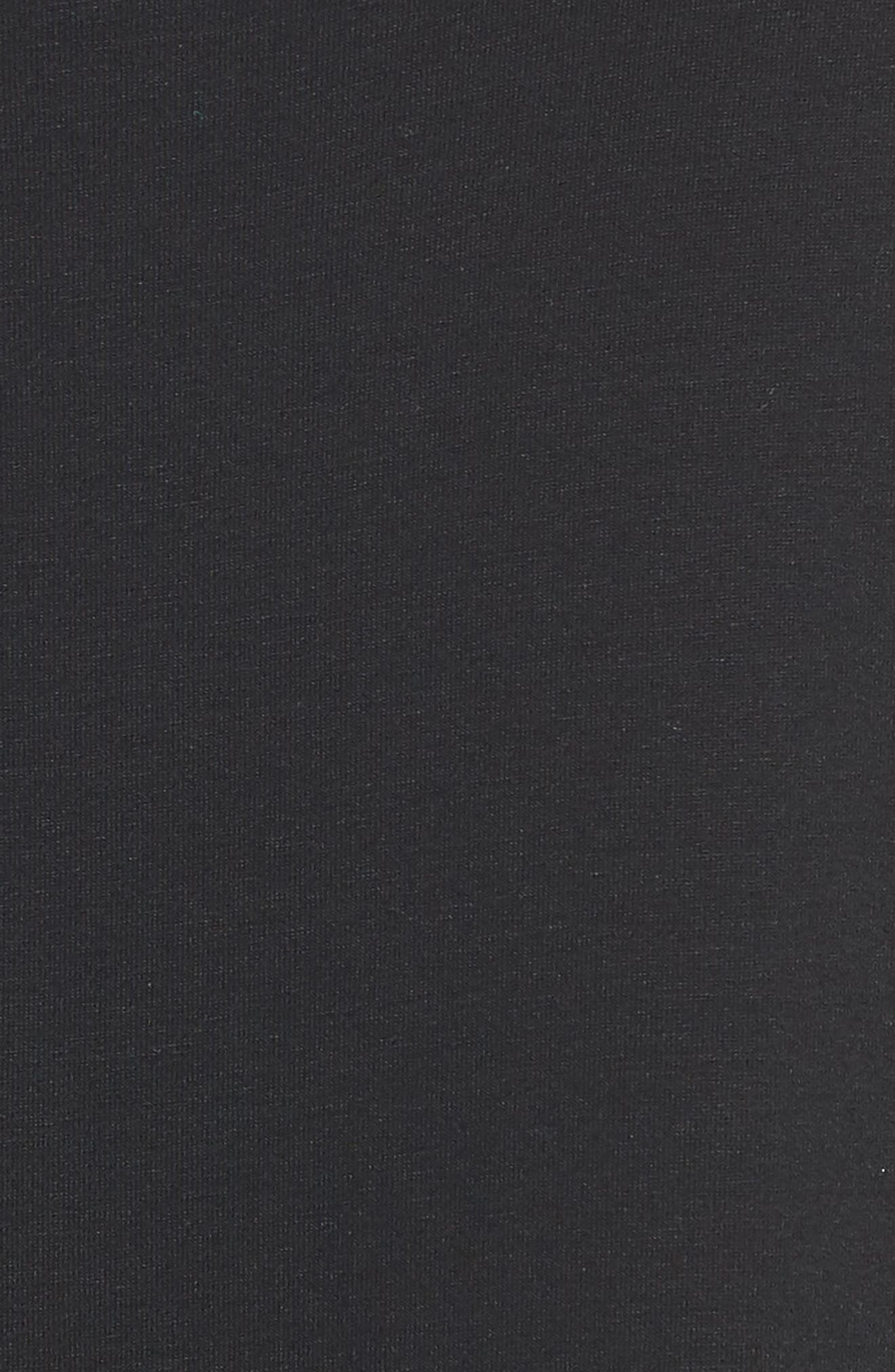 Crop Jersey Jumpsuit,                             Alternate thumbnail 6, color,                             Black