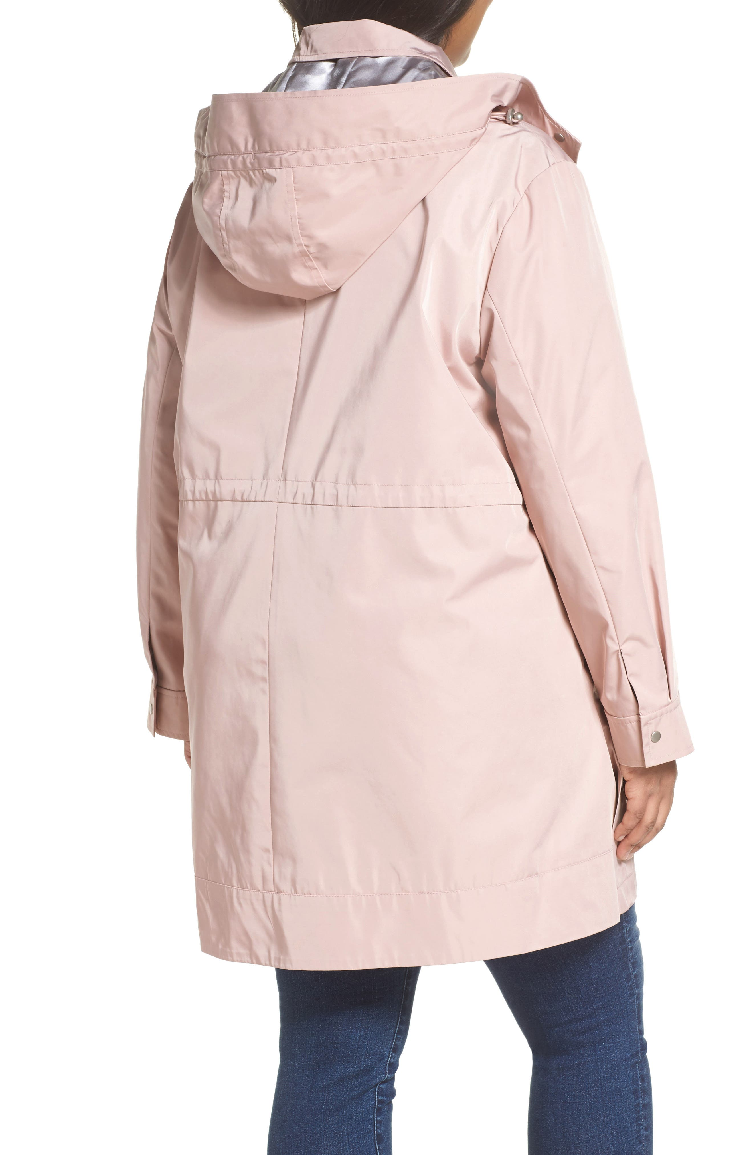 Tech Hooded Trench Coat,                             Alternate thumbnail 2, color,                             Misty Rose
