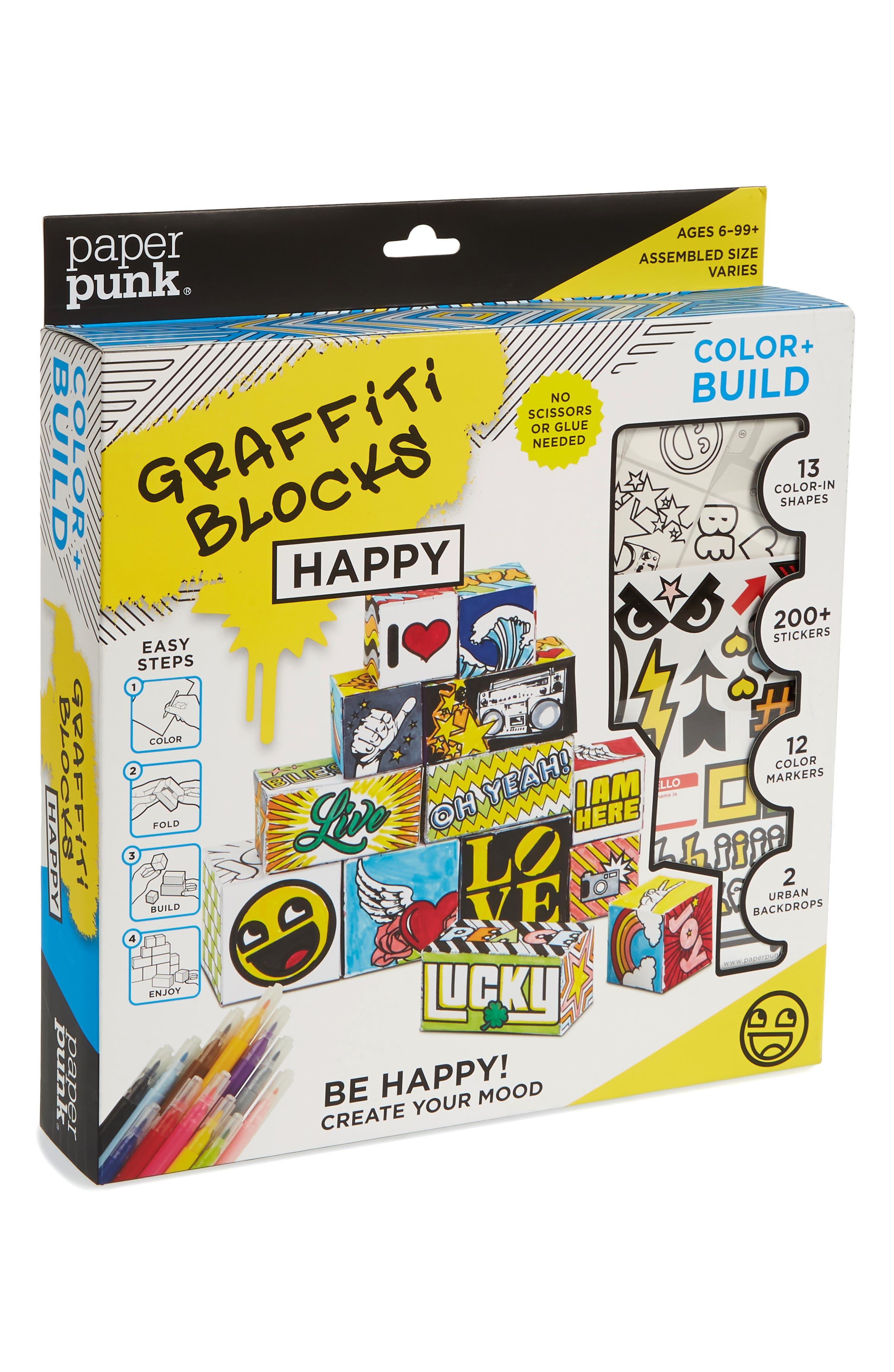 Color & Build Graffiti Blocks Paper Folding Kit,                         Main,                         color, Multi