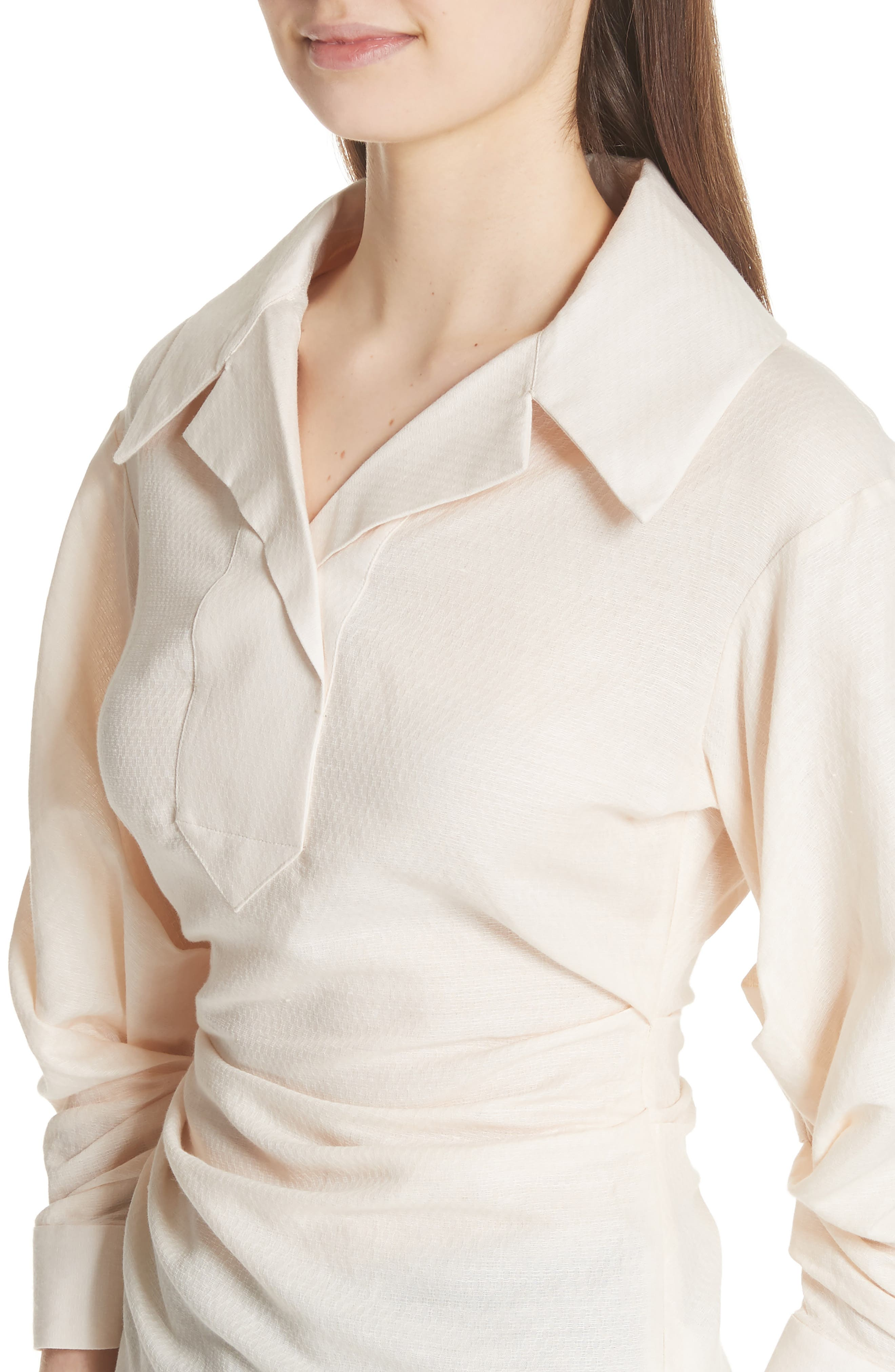 La Chemise Maceio Shirt,                             Alternate thumbnail 4, color,                             Beige