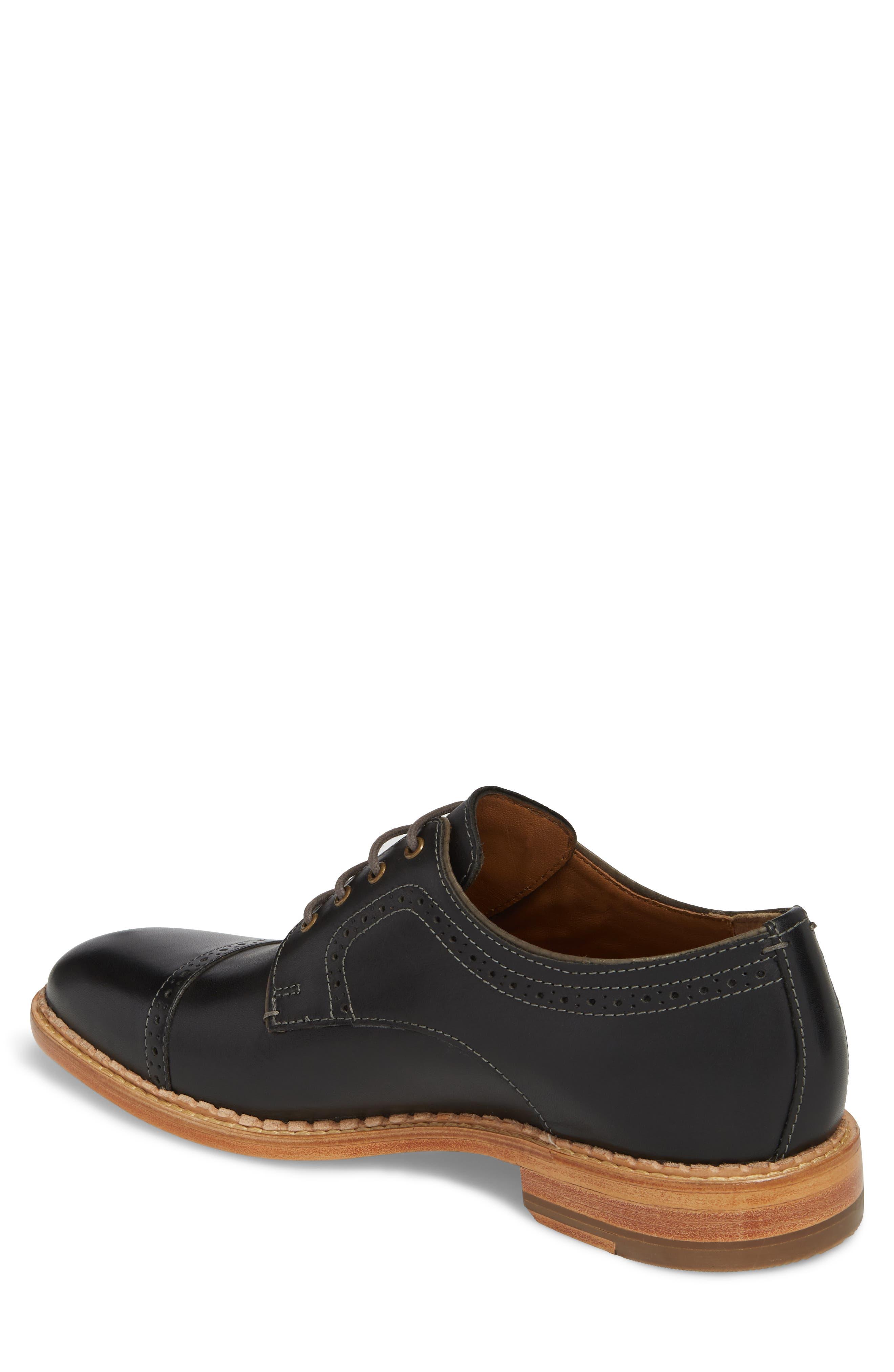 Chambliss Cap Toe Derby,                             Alternate thumbnail 2, color,                             Black Leather