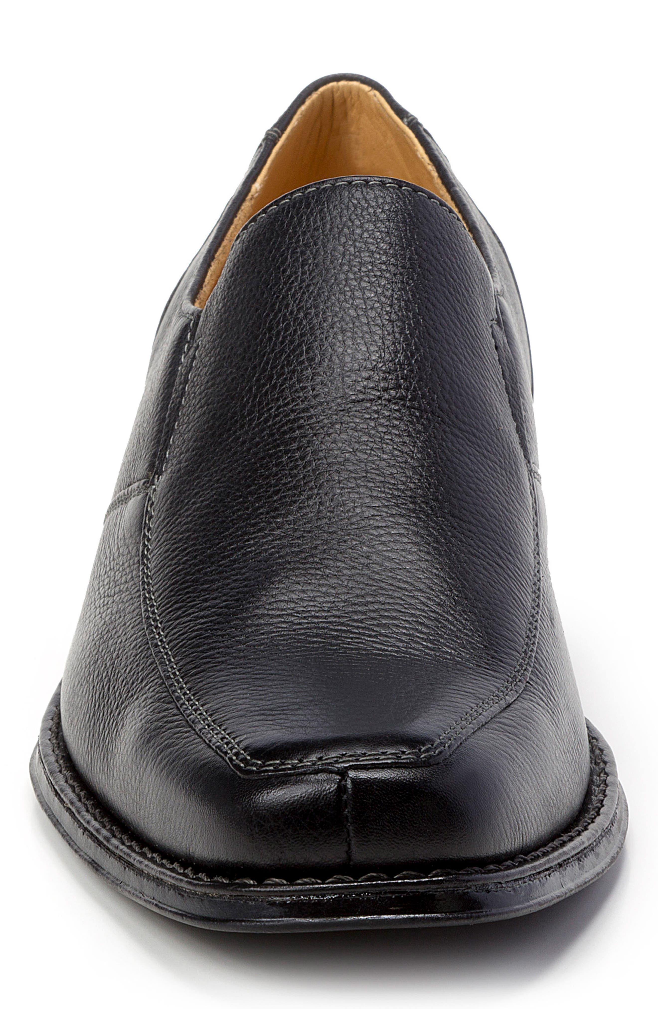 Renzo Square Toe Slip-On,                             Alternate thumbnail 4, color,                             Black