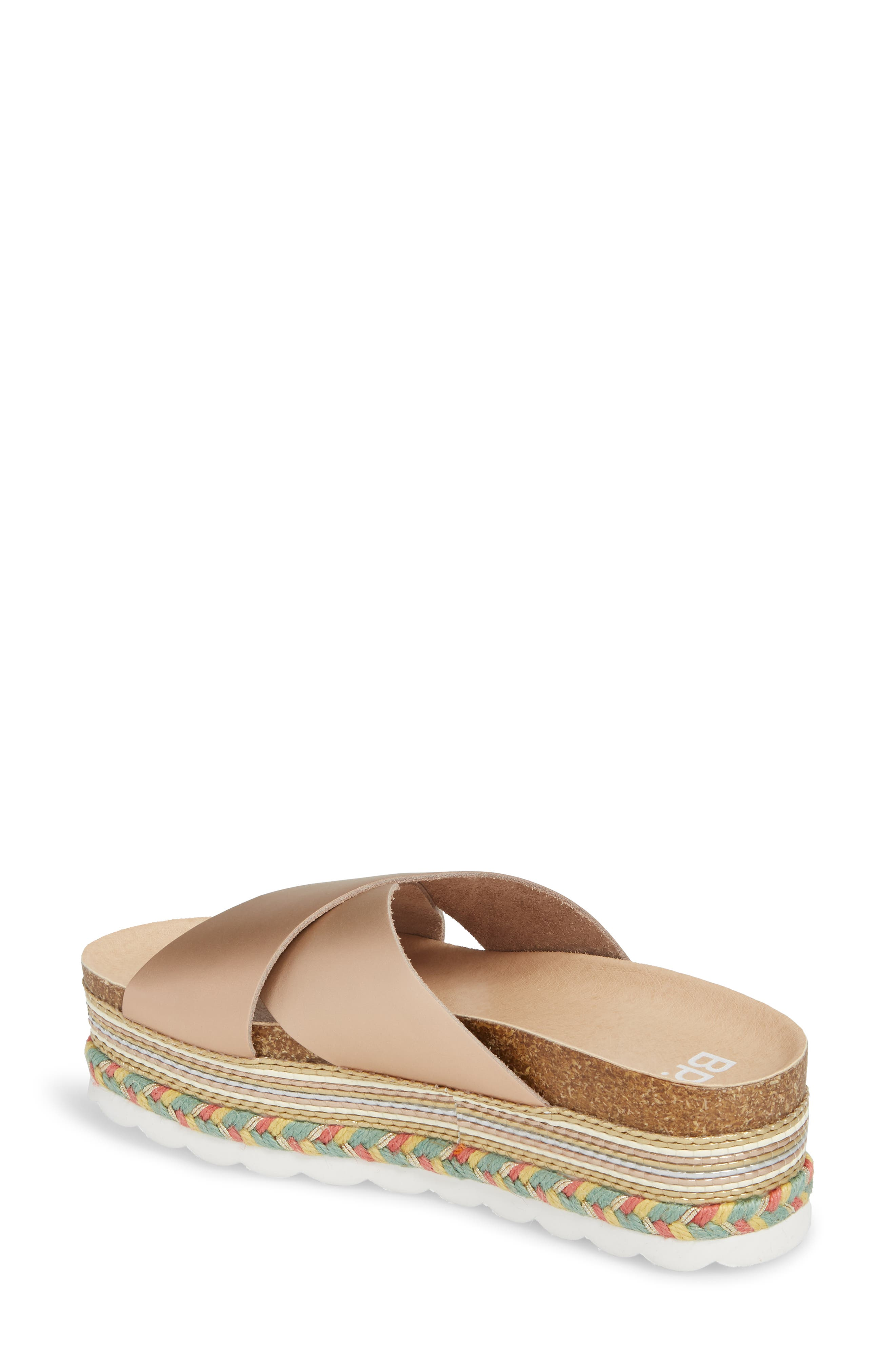 Torri Platform Slide Sandal,                             Alternate thumbnail 2, color,                             Rose Gold Leather