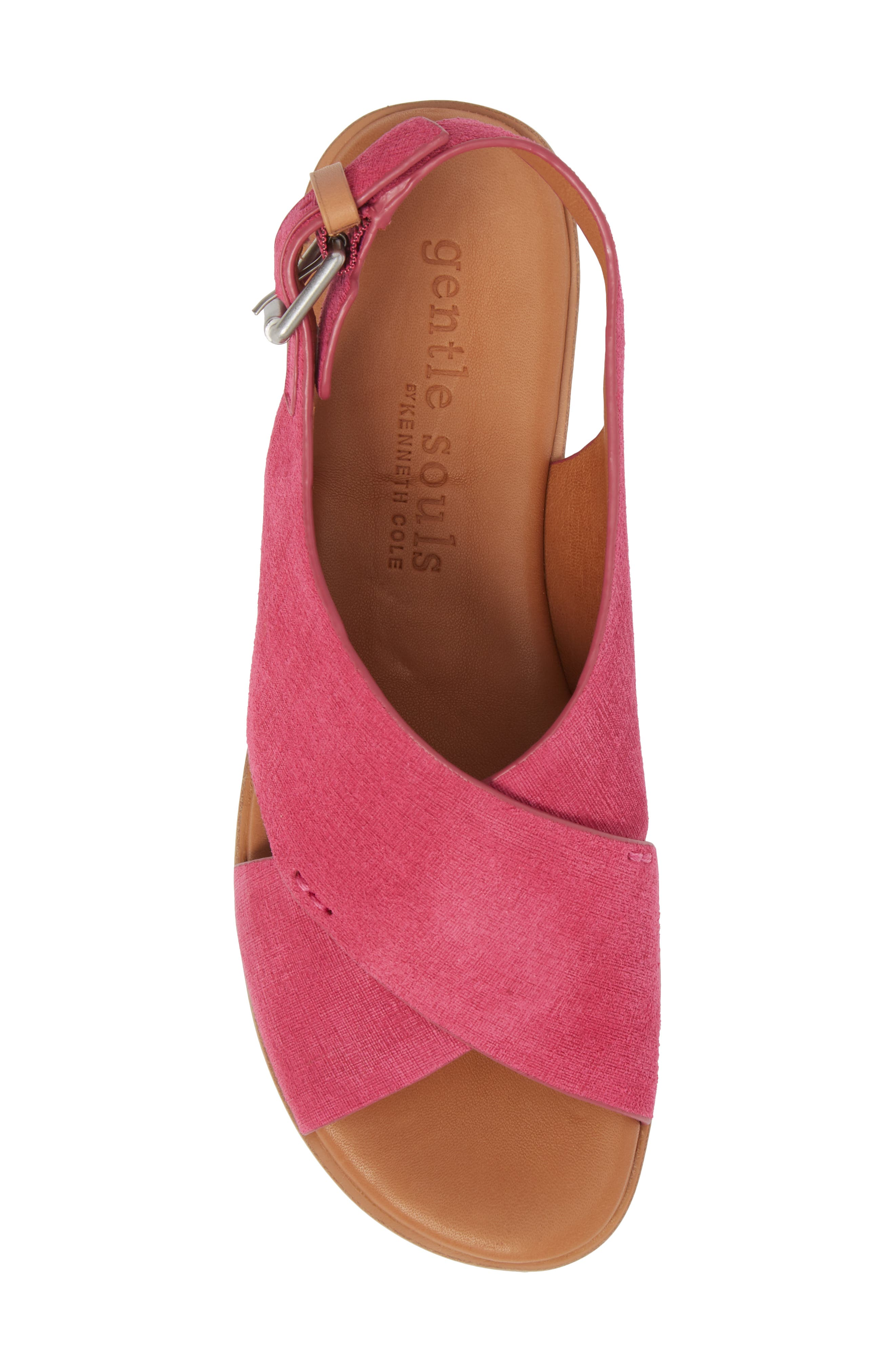by Kenneth Cole Kiki Platform Sandal,                             Alternate thumbnail 5, color,                             Fuchsia Suede