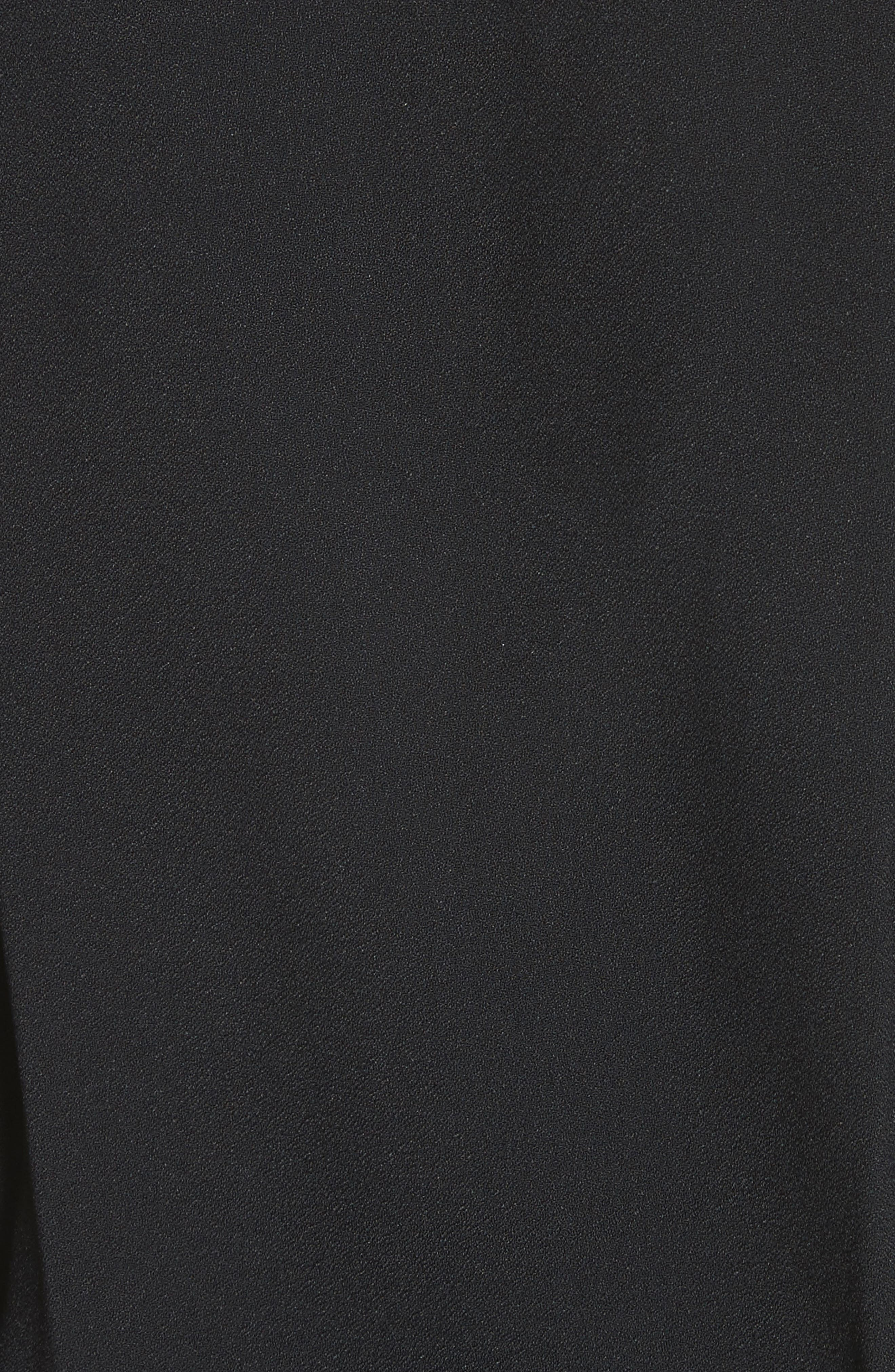Ruched Blouson Dress,                             Alternate thumbnail 6, color,                             Black