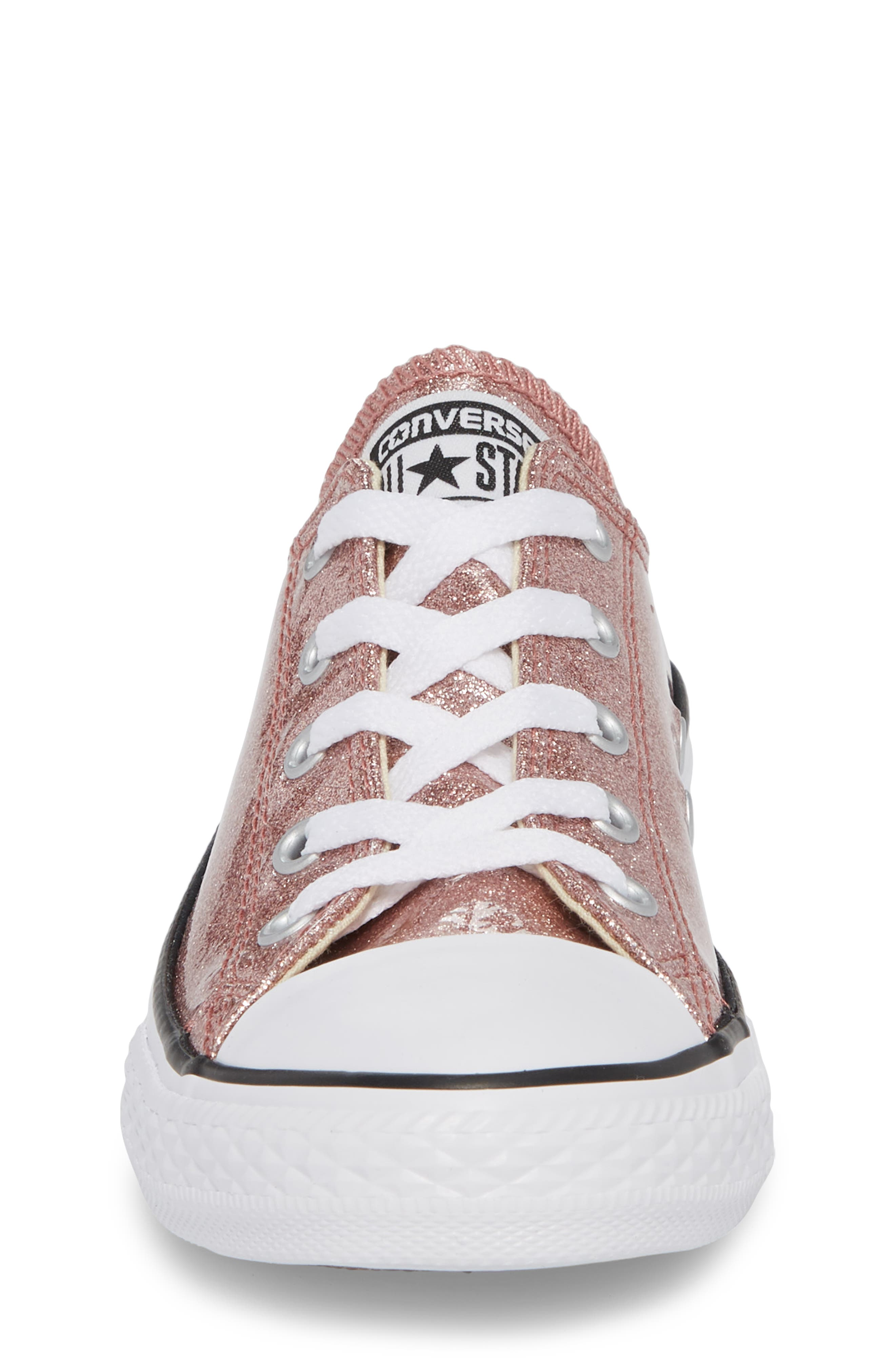 Chuck Taylor<sup>®</sup> All Star<sup>®</sup> Glitter Slip-On,                             Alternate thumbnail 4, color,                             Rose Gold