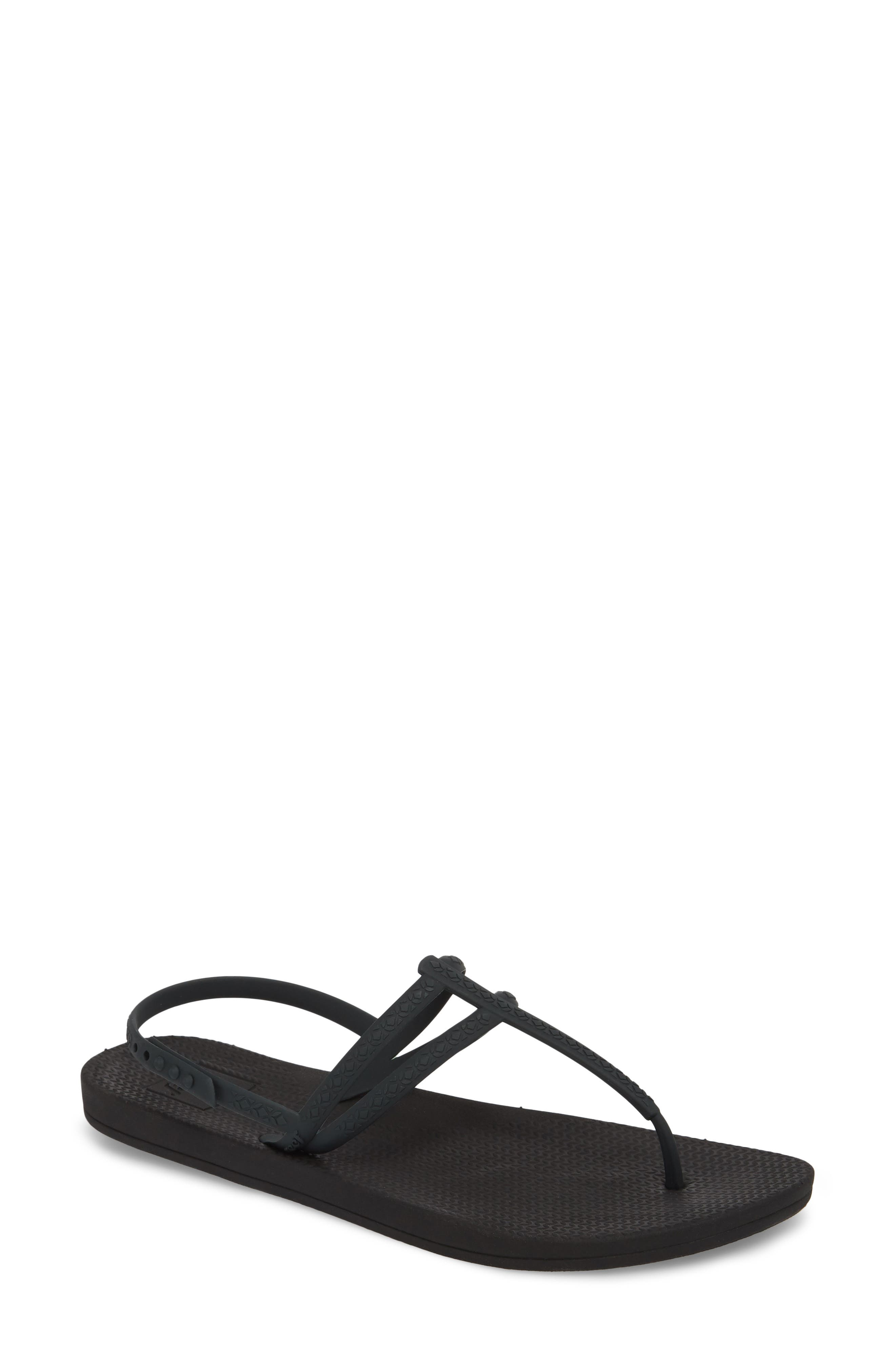 Escape Lux T-Strap Sandal,                         Main,                         color, Black