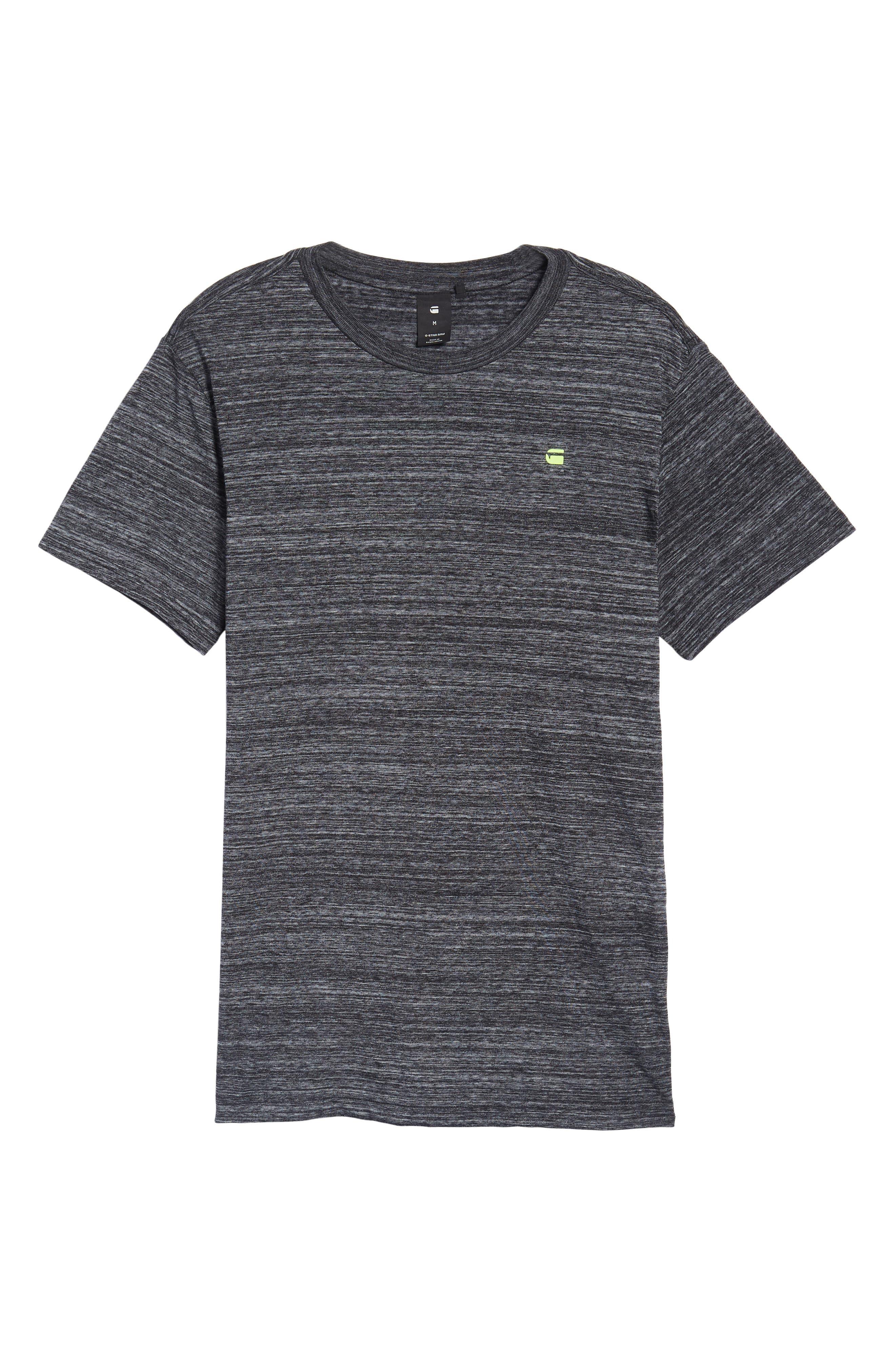New Classic Regular T-Shirt,                             Alternate thumbnail 6, color,                             Dark Black Heather