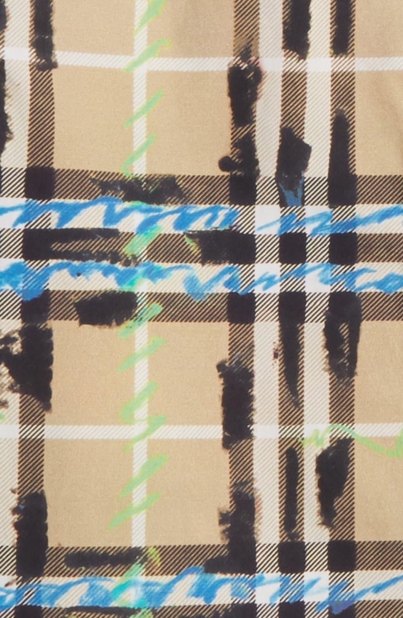 Alternate Image 2  - Burberry Clarkey Scribble Plaid Woven Shirt (Toddler Boys)