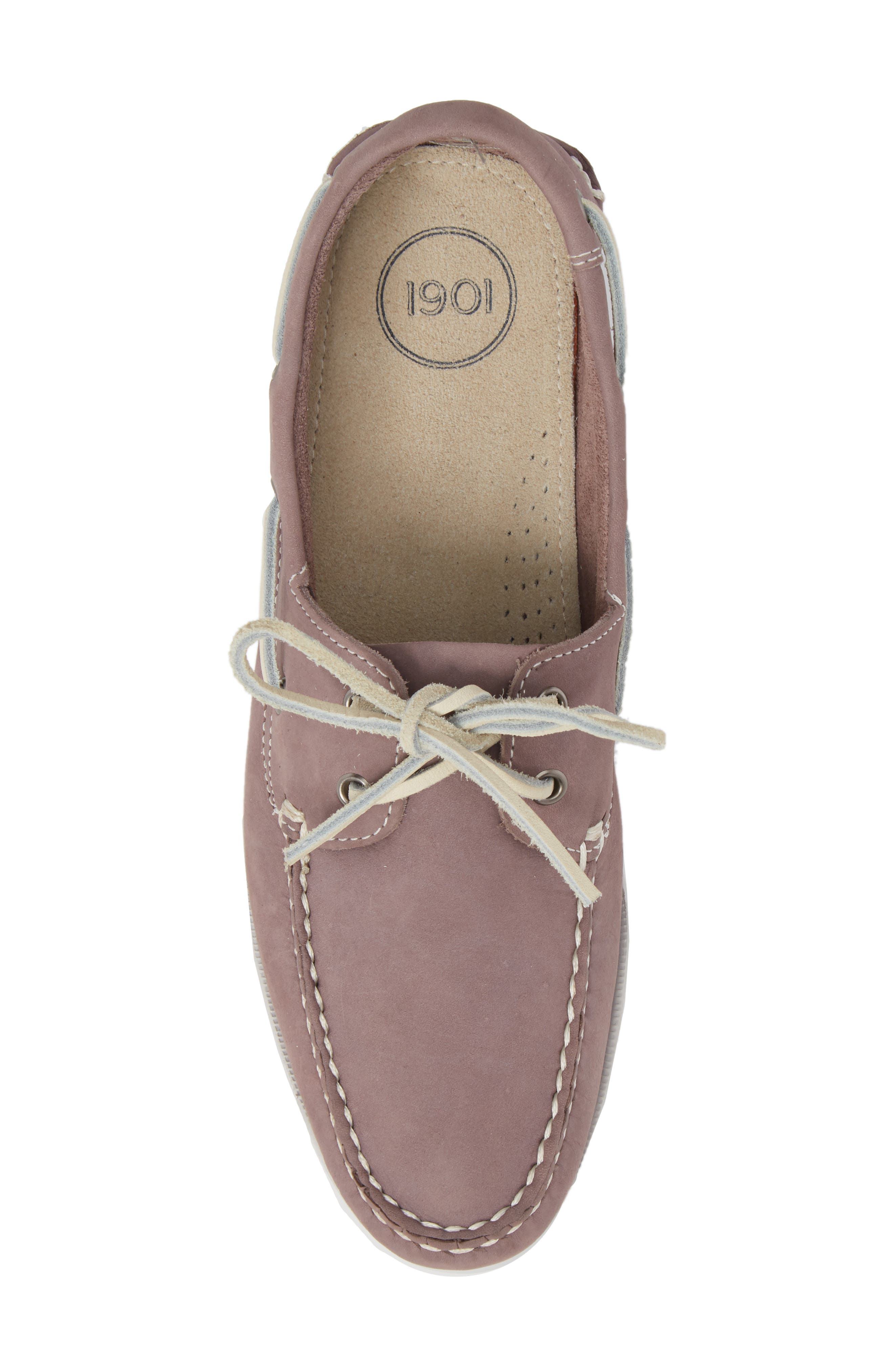 Pacific Boat Shoe,                             Alternate thumbnail 4, color,                             Lavender Nubuck