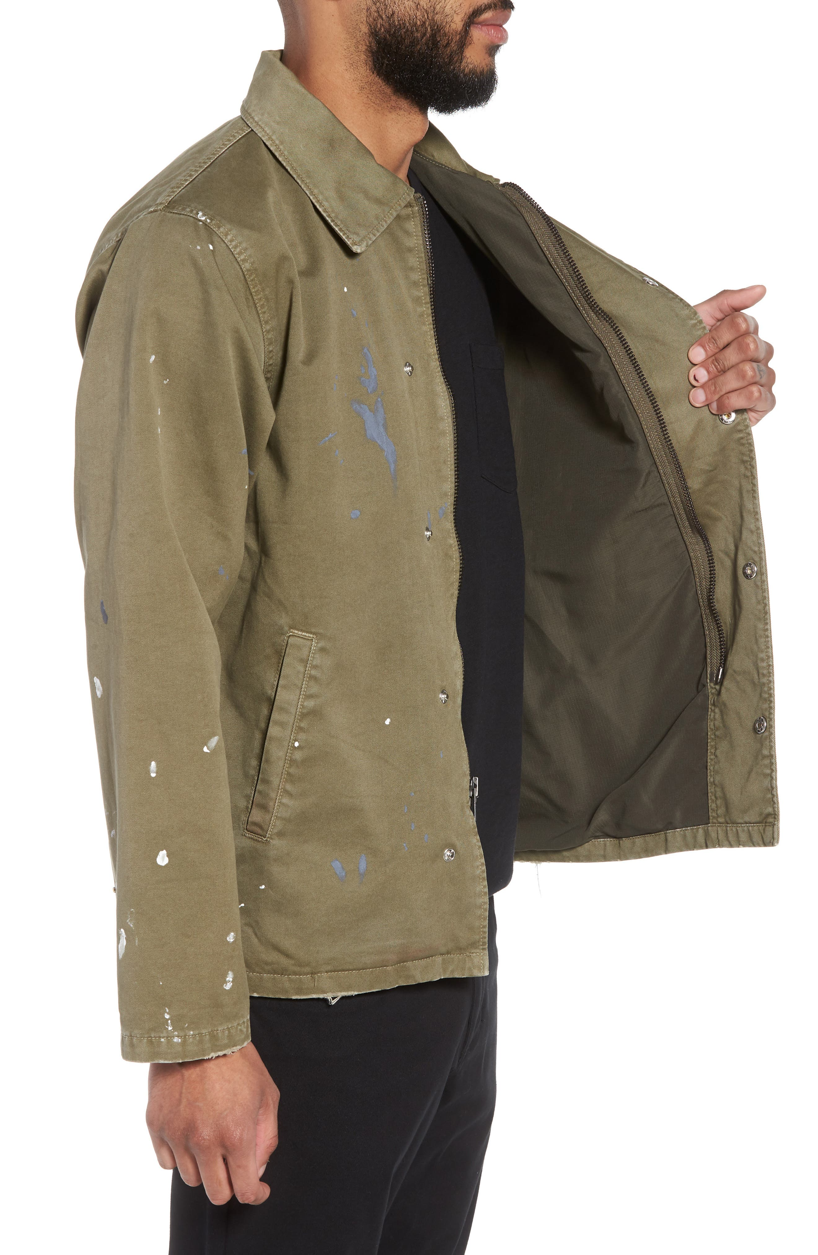 Hudson Military Jacket,                             Alternate thumbnail 3, color,                             Army Paint