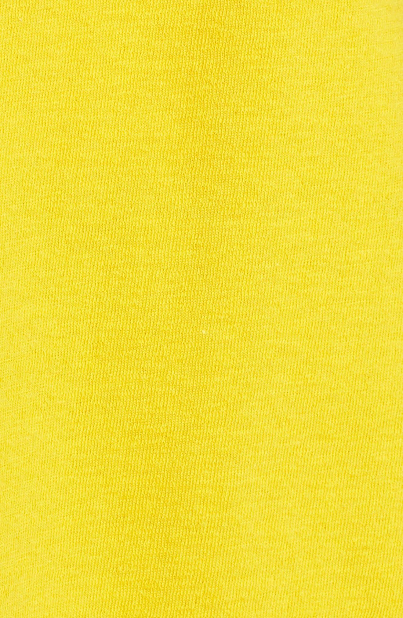 Side Tie Cotton Tunic Top,                             Alternate thumbnail 6, color,                             Yellow Tea