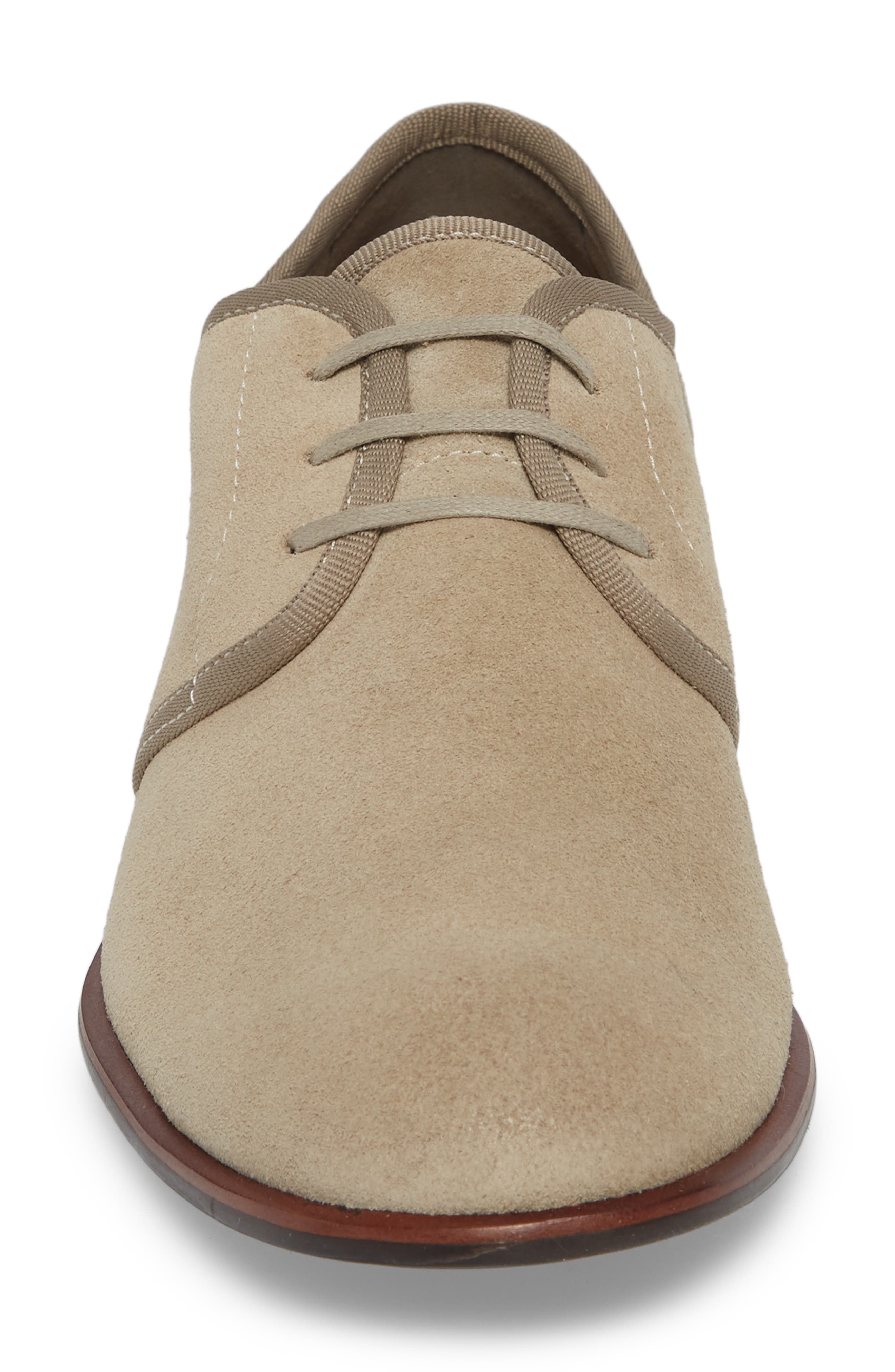 John Varvatos Star USA Seagher Plain Toe Derby,                             Alternate thumbnail 4, color,                             Lt. Brown