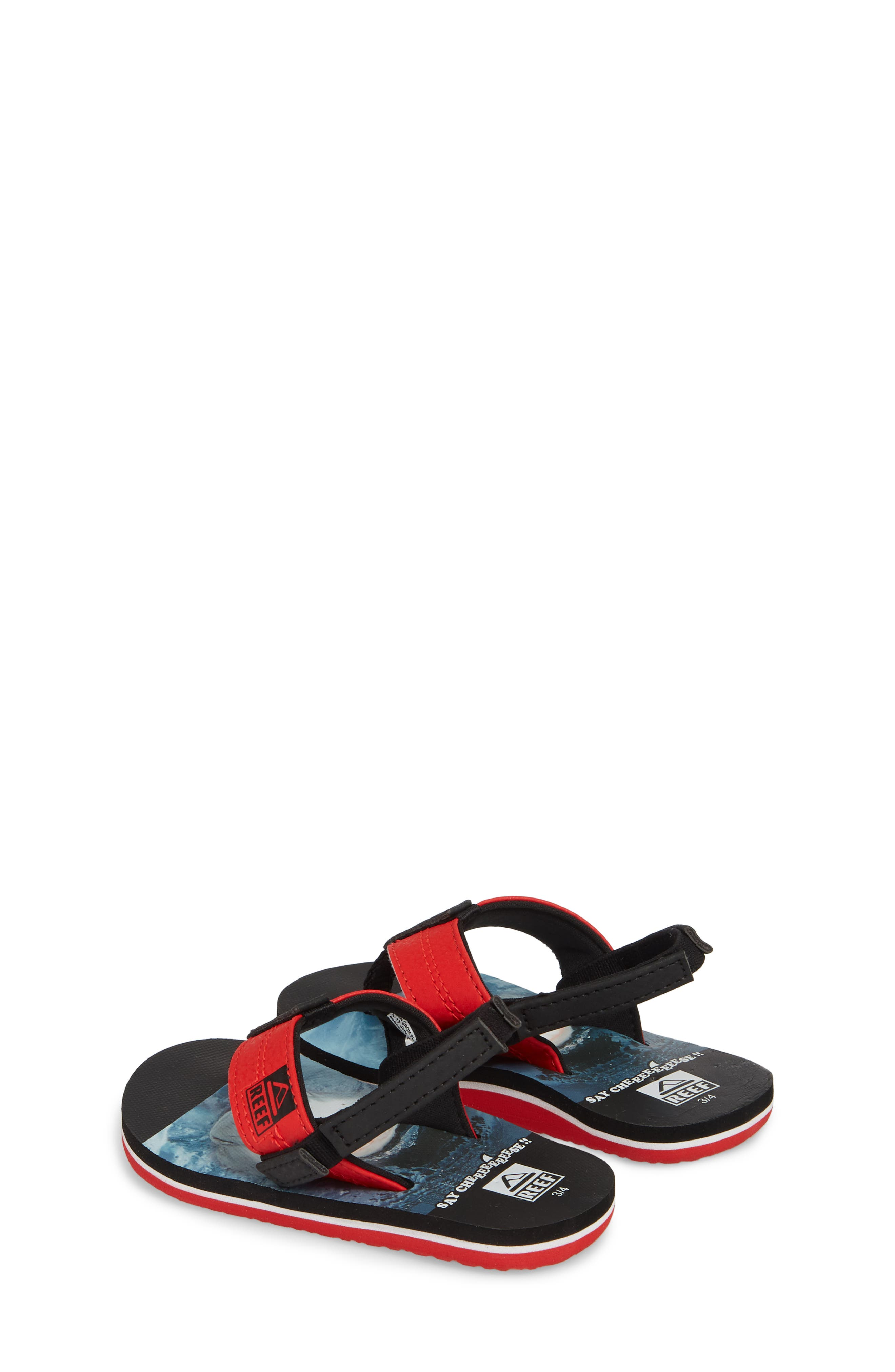 Grom Photo Print Flip Flop,                             Alternate thumbnail 2, color,                             Red