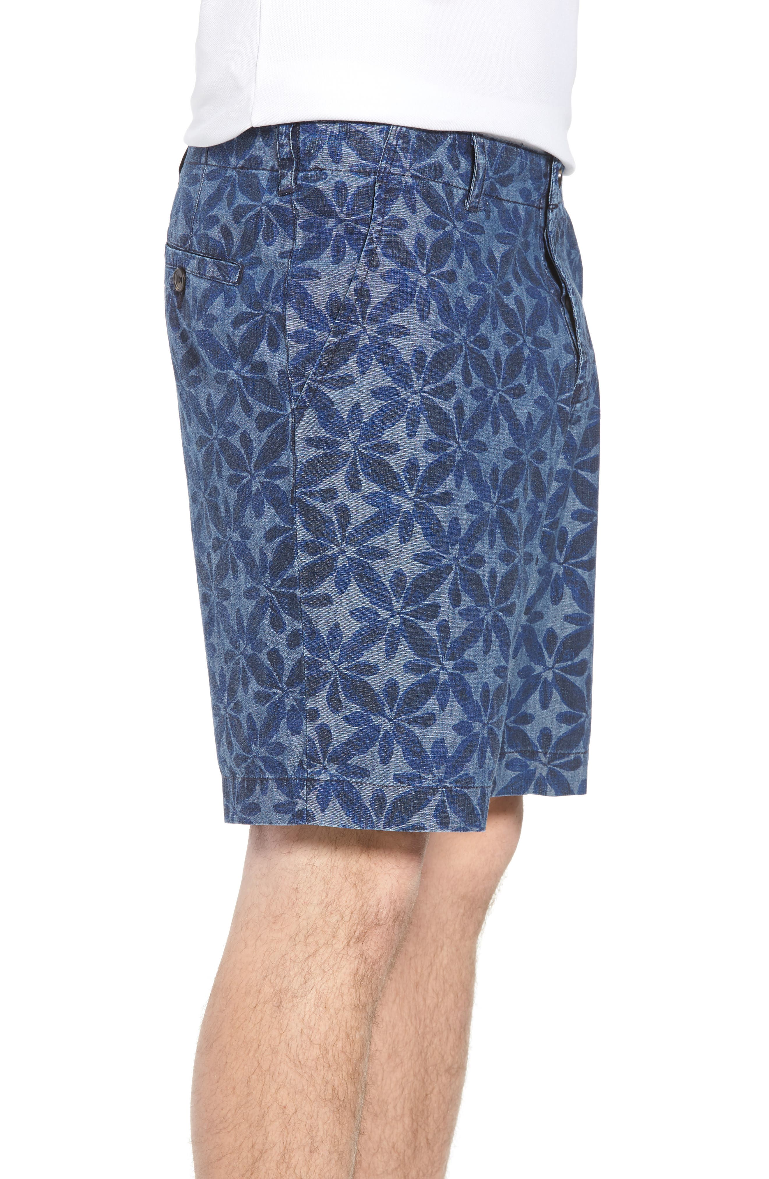 Franju Floral Cotton Shorts,                             Alternate thumbnail 3, color,                             Rinse And Softener