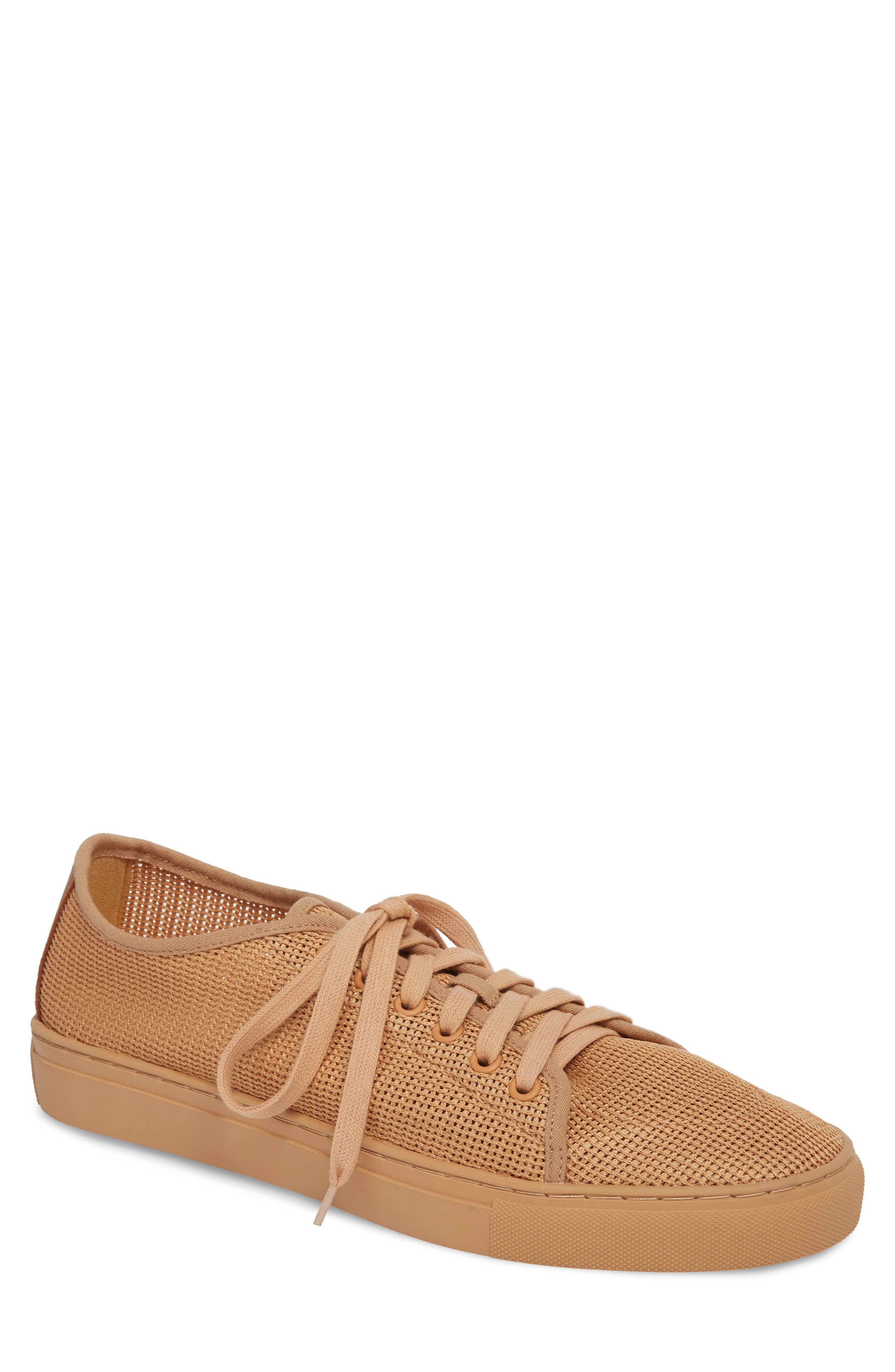 Abel Mesh Sneaker,                         Main,                         color, Sand Mesh