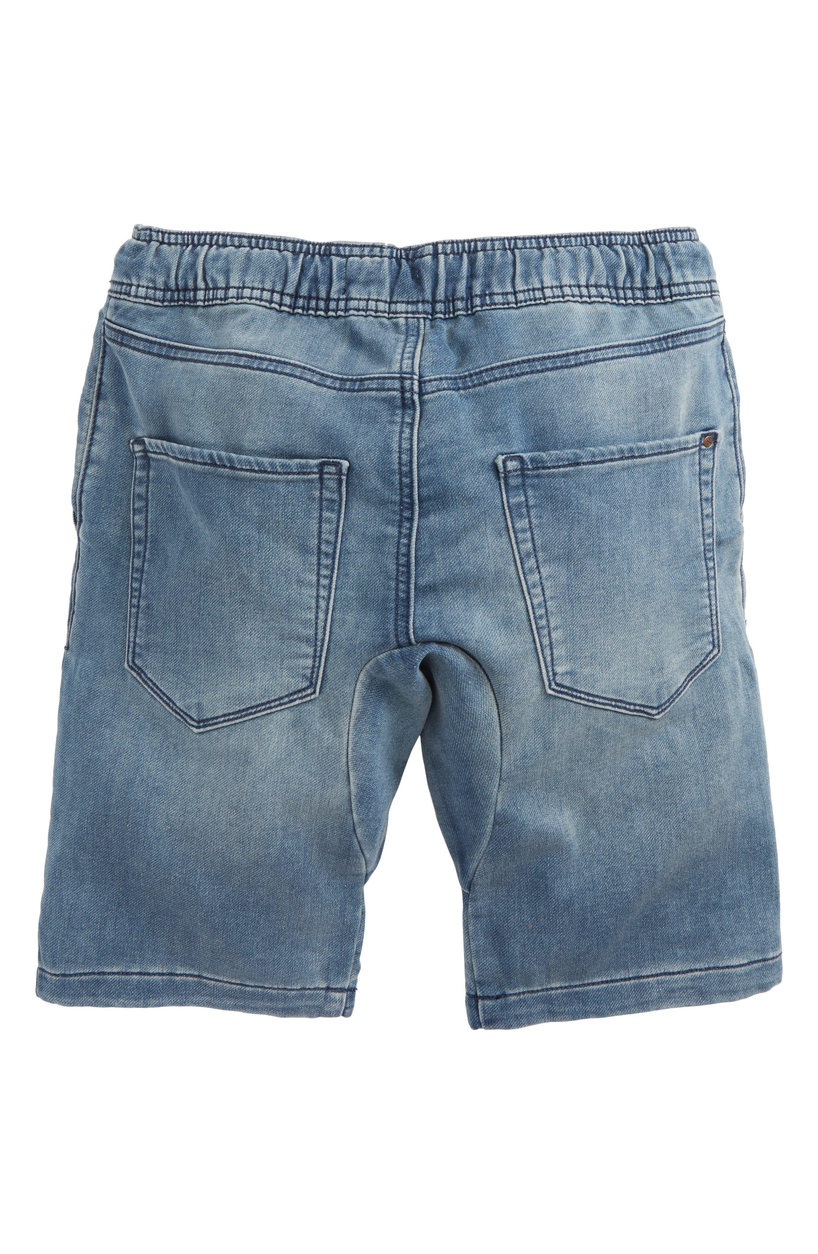 Denim Jogger Shorts,                             Alternate thumbnail 2, color,                             Lott Wash