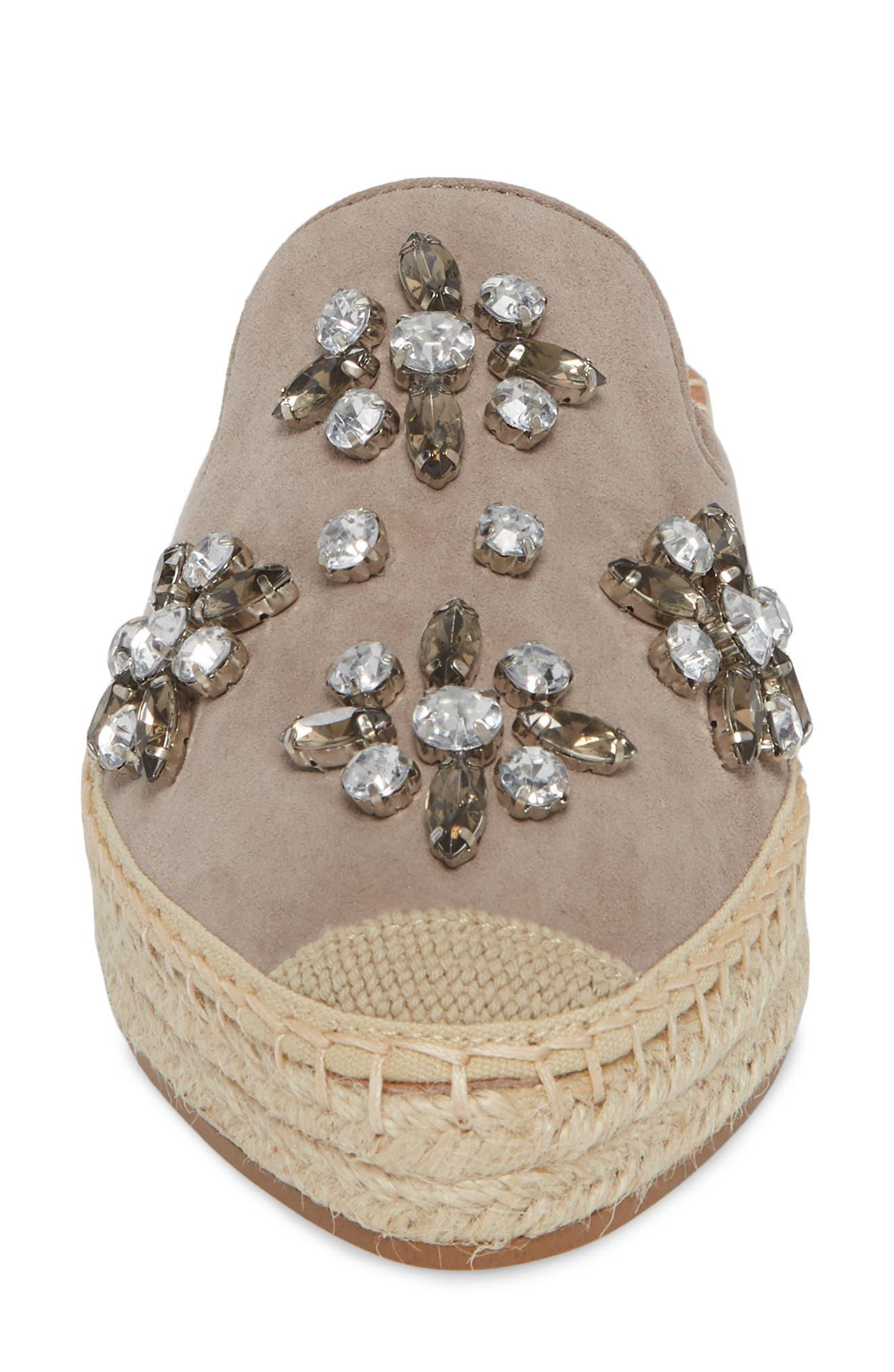 Alternate Image 4  - Halogen® Blythe Embellished Espadrille Mule (Women)