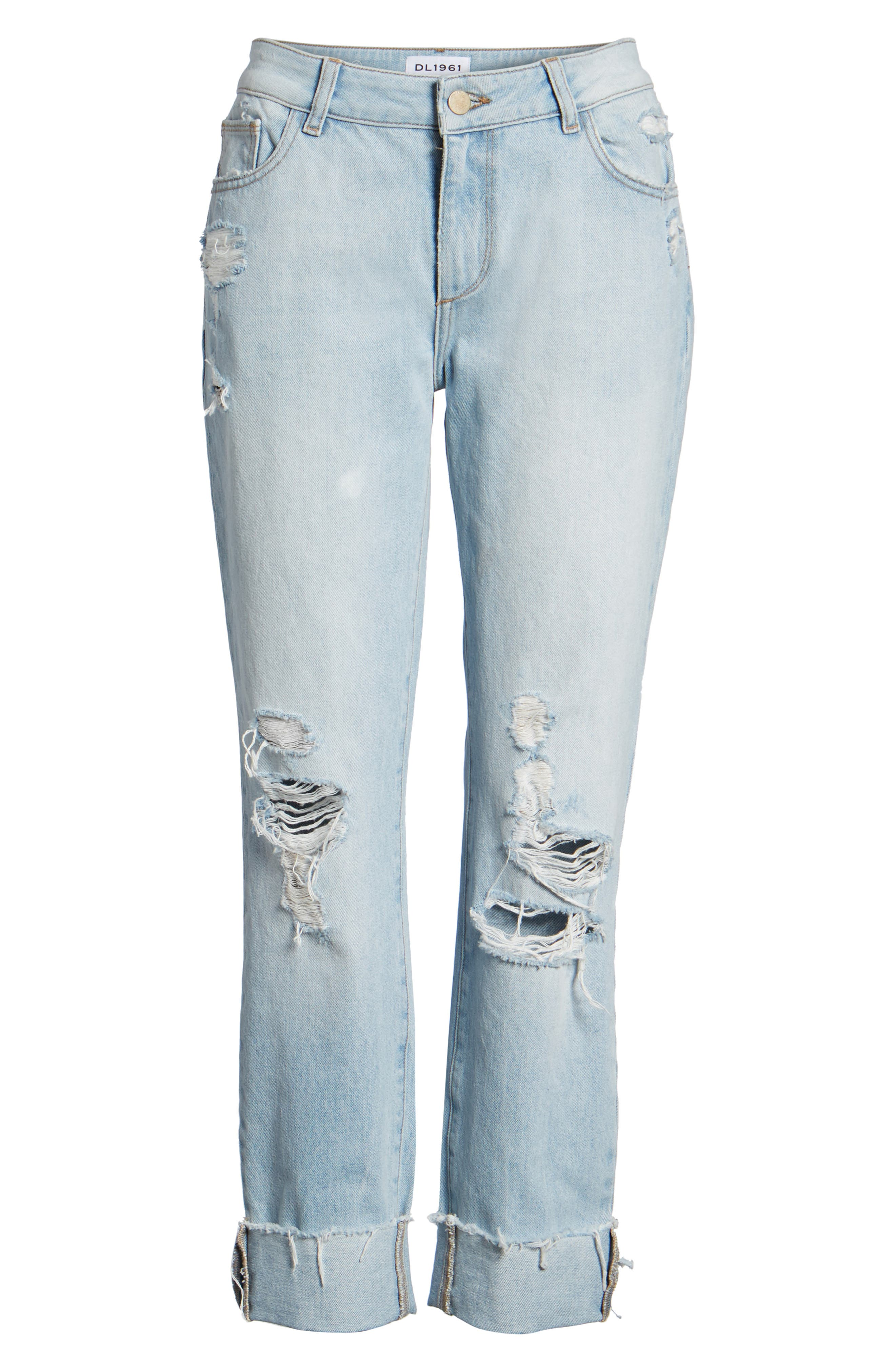 Stevie Ripped Crop Slim Boyfriend Jeans,                             Alternate thumbnail 7, color,                             Drift