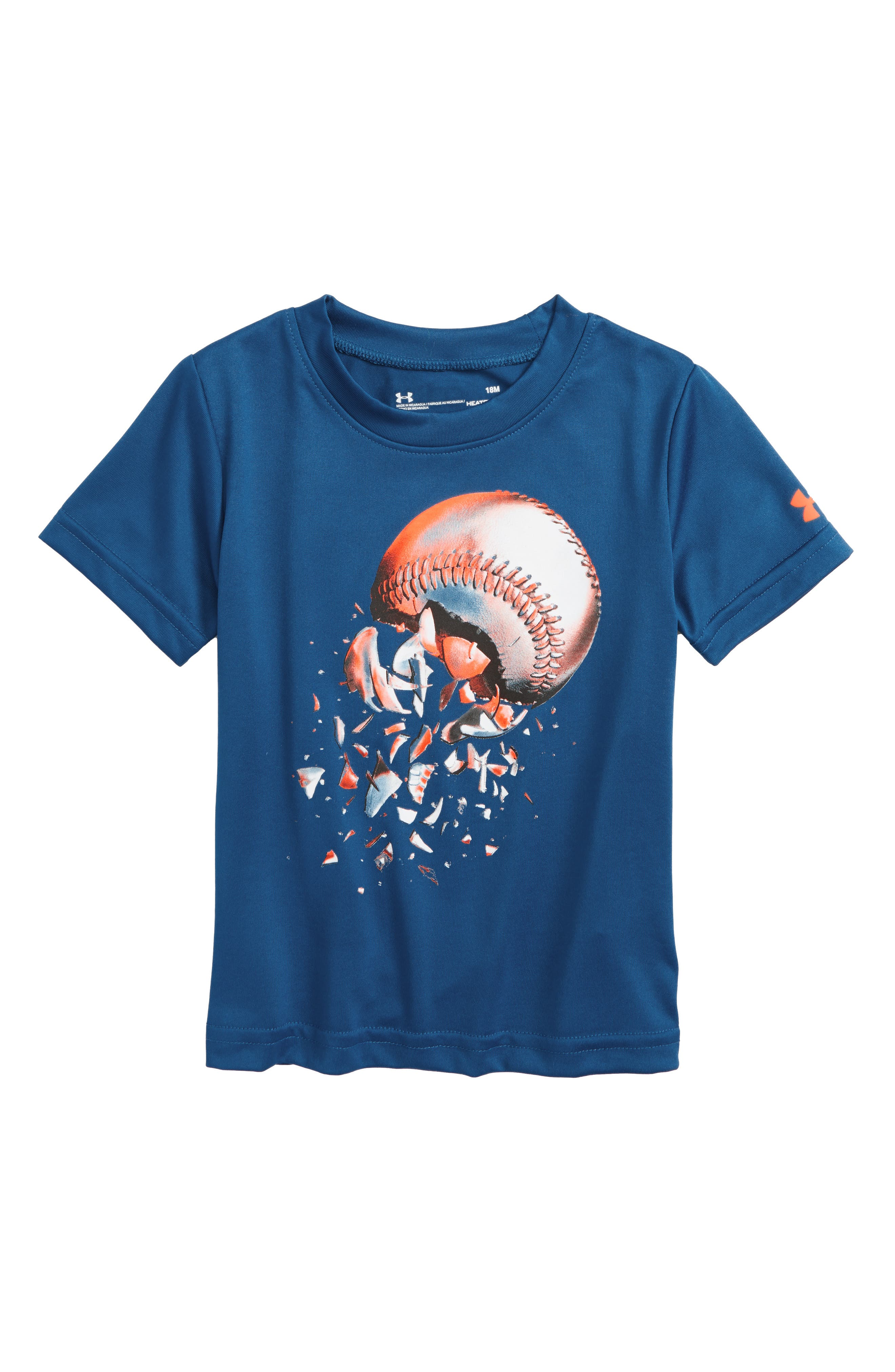 Baseball Explosion HeatGear<sup>®</sup> T-Shirt,                             Main thumbnail 1, color,                             Moroccan Blue