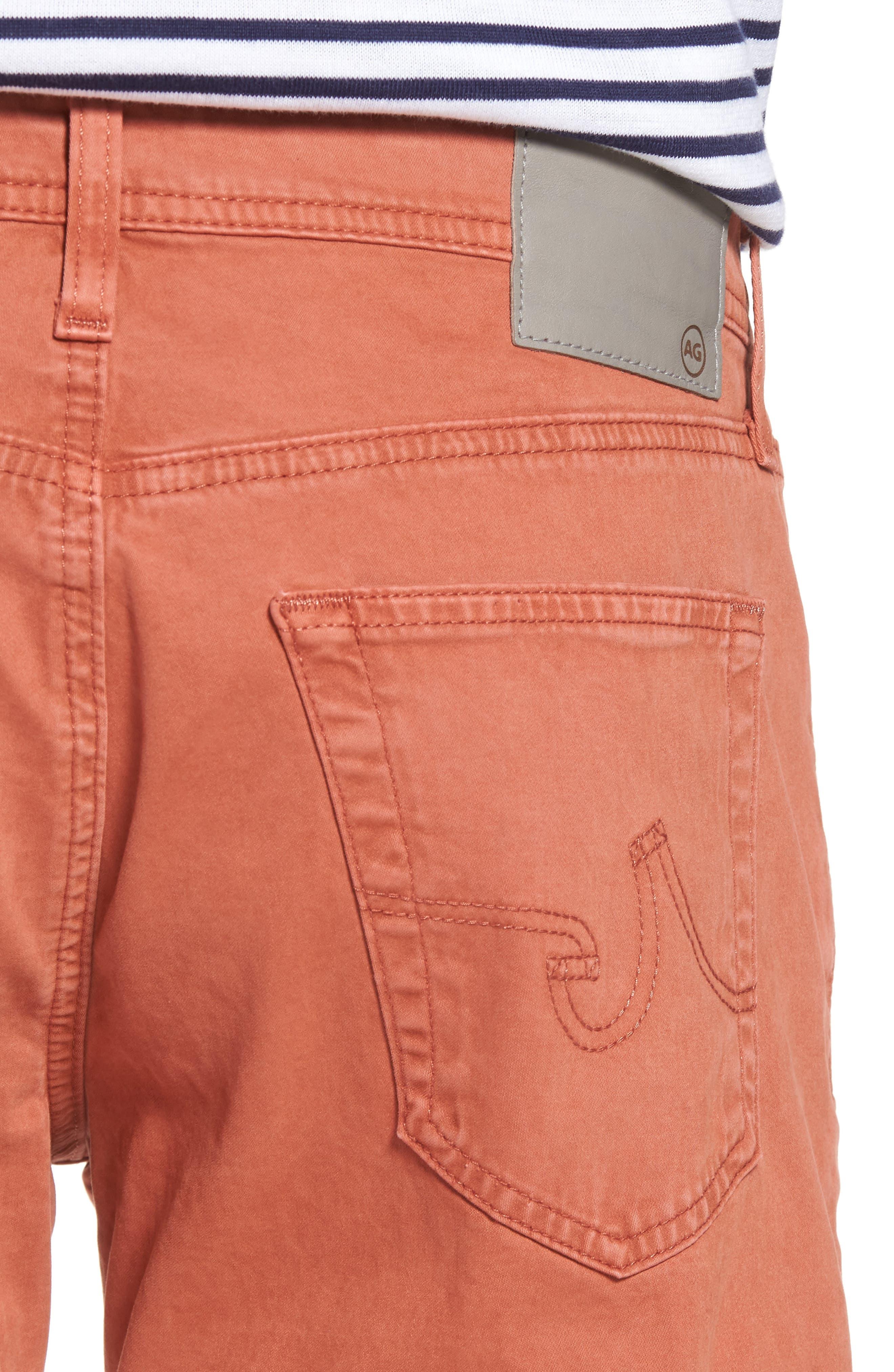 Graduate SUD Slim Straight Leg Pants,                             Alternate thumbnail 4, color,                             Sulfur Rosso Red