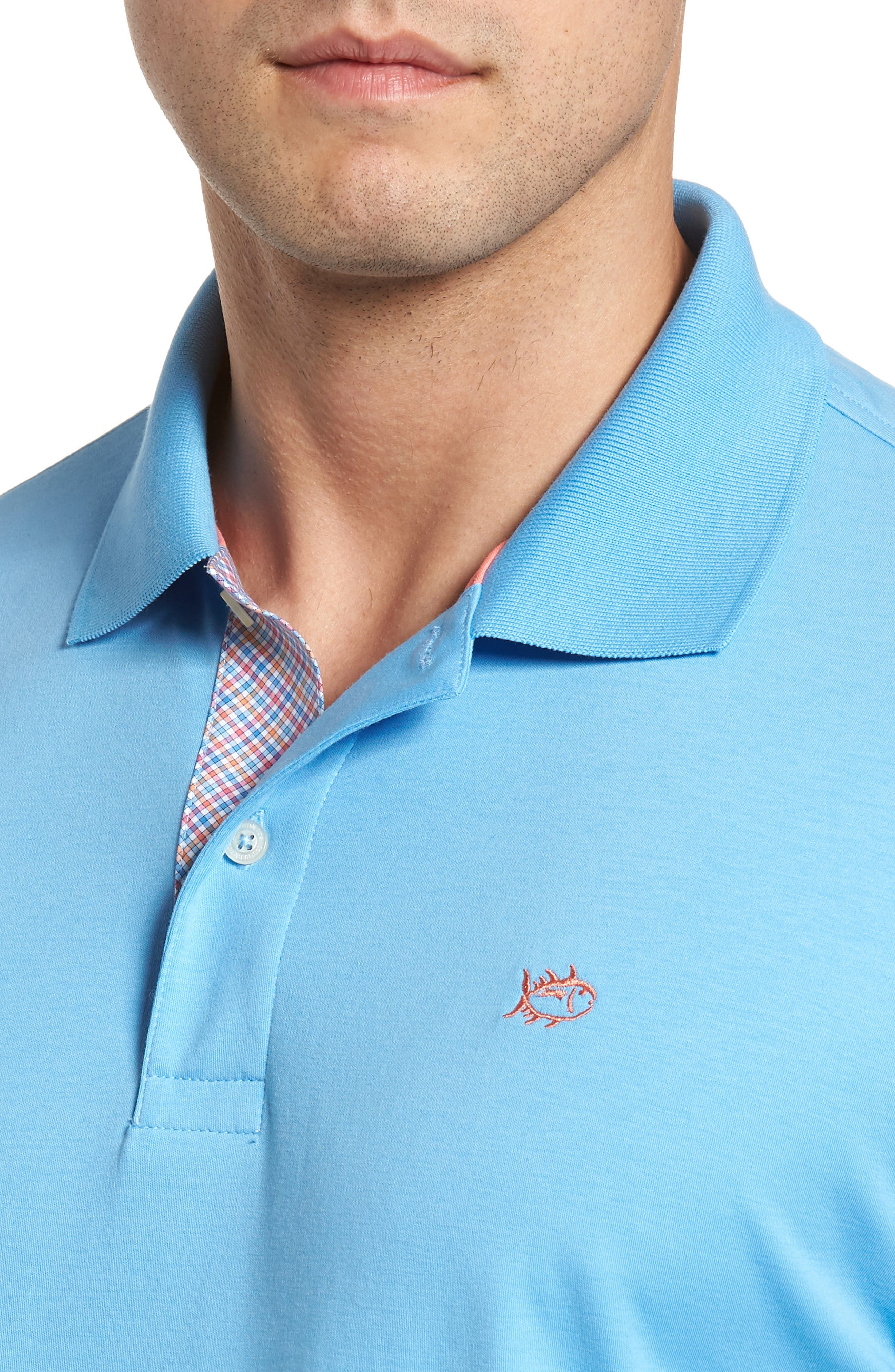 Sugar Mill Jersey Polo,                             Alternate thumbnail 4, color,                             Ocean Channel