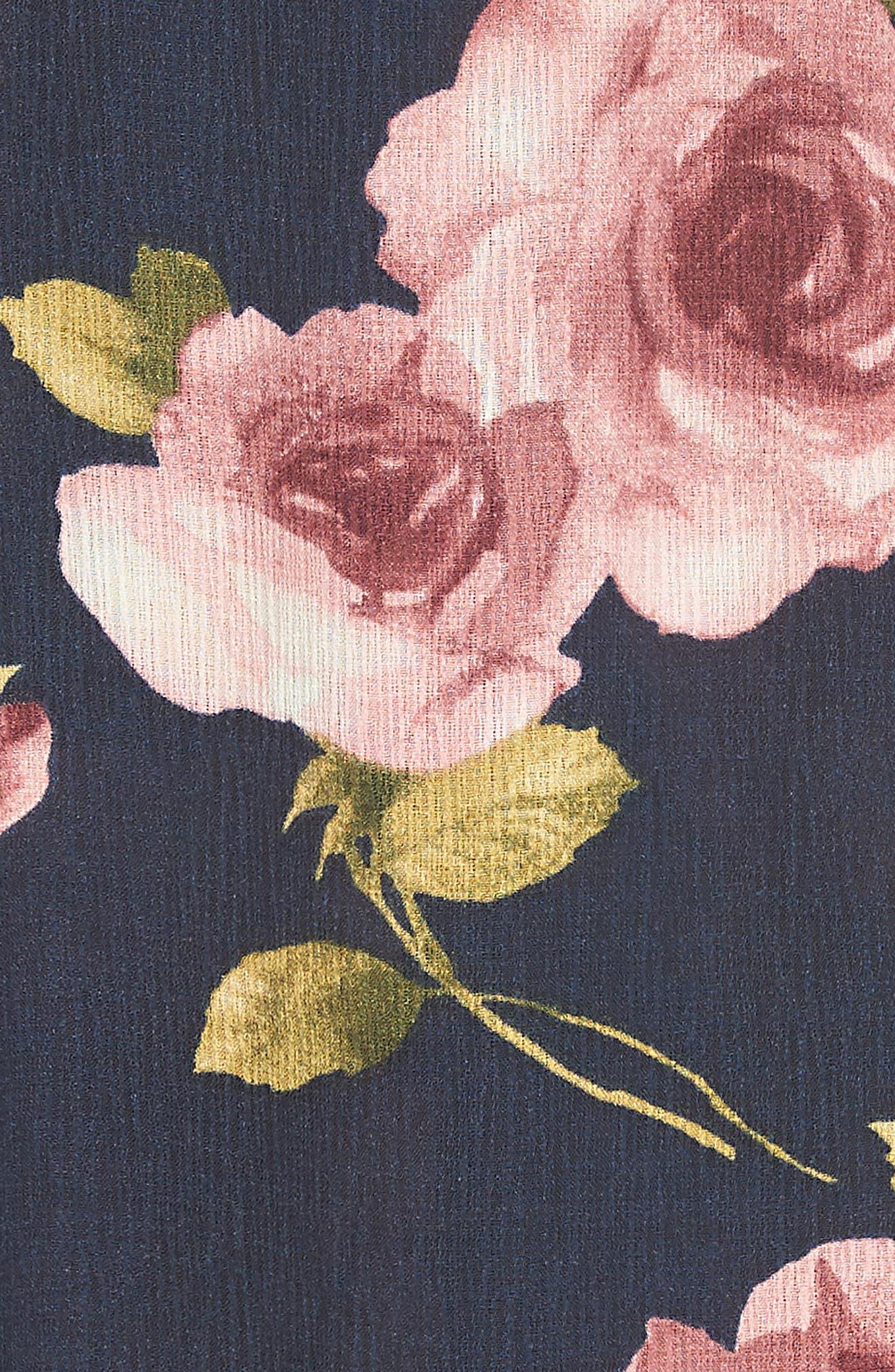 Flutter Sleeve Maxi Dress,                             Alternate thumbnail 6, color,                             Navy Blush
