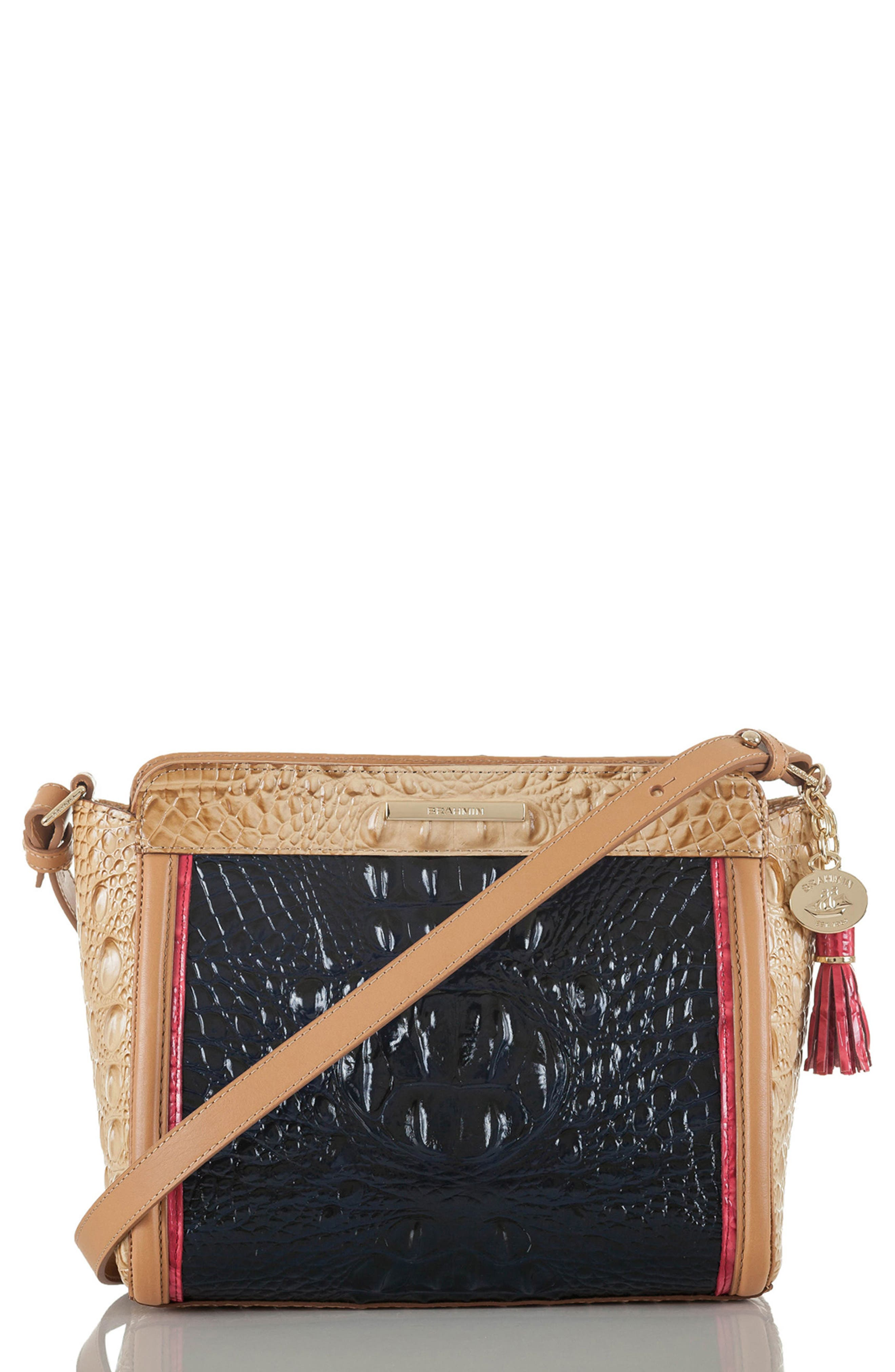 Carrie Leather Crossbody Bag,                         Main,                         color, Ink