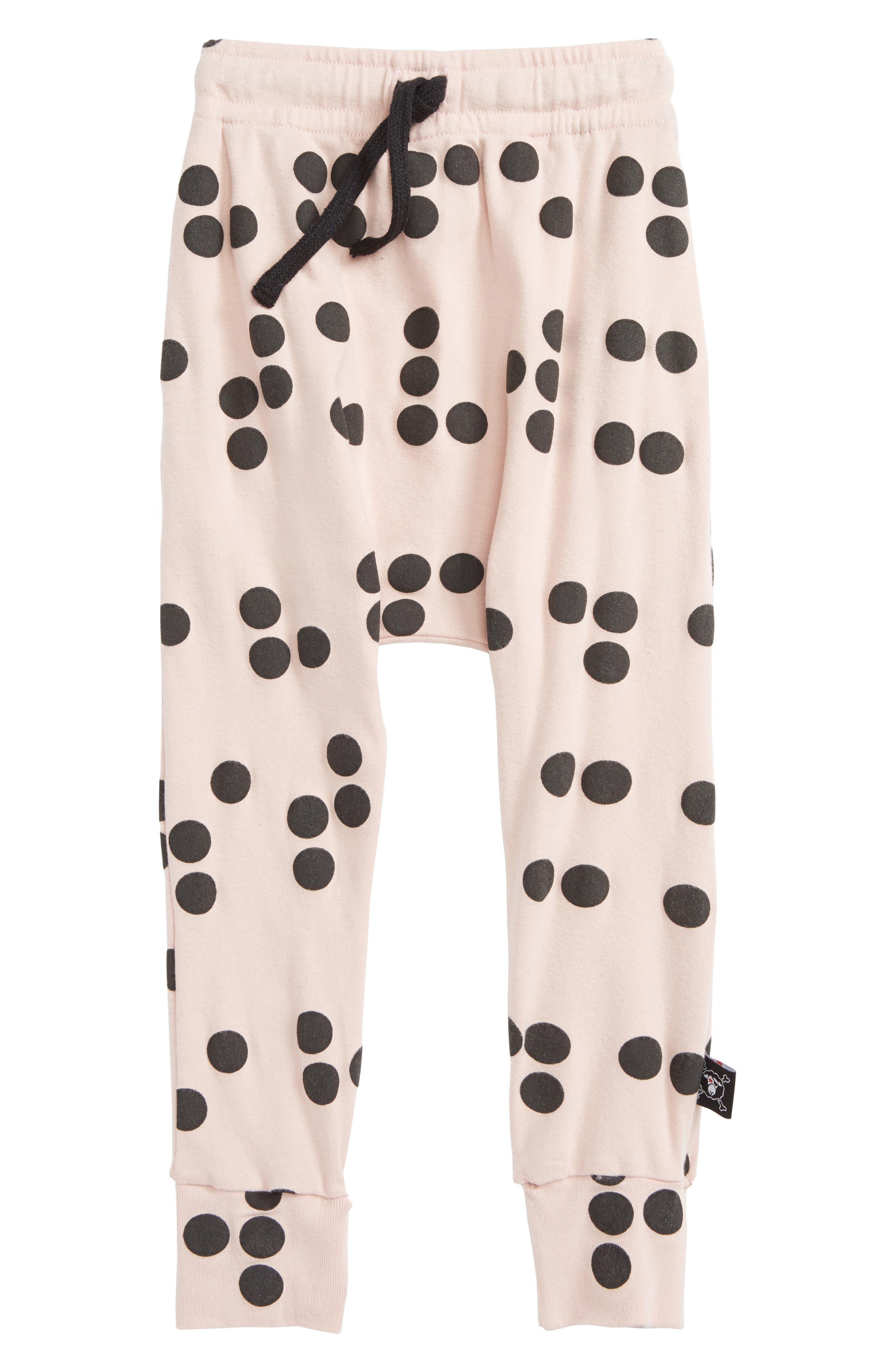Braille Baggy Pants,                             Main thumbnail 1, color,                             Powder Pink