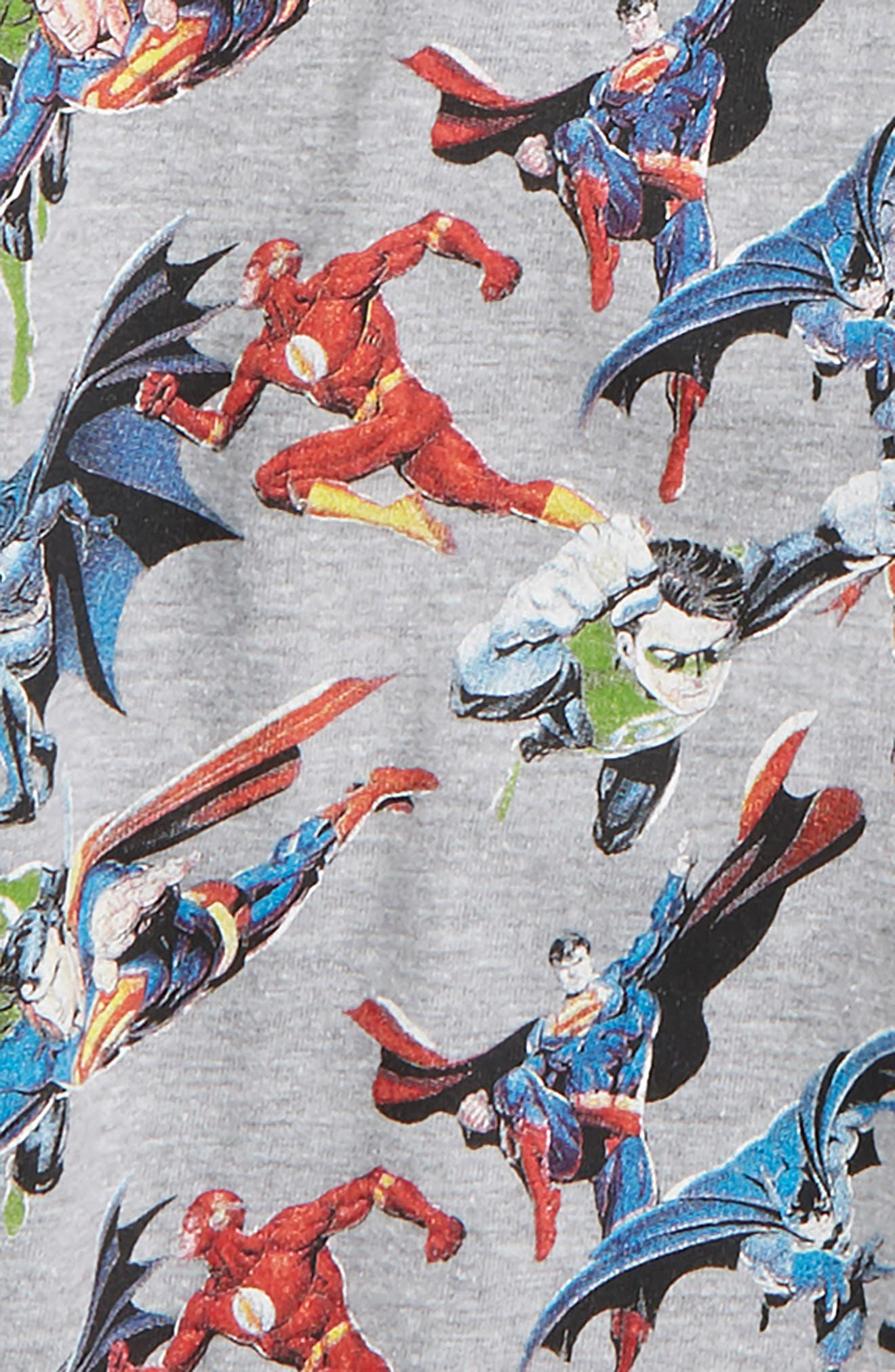 Super Heroes T-Shirt,                             Alternate thumbnail 2, color,                             Grey