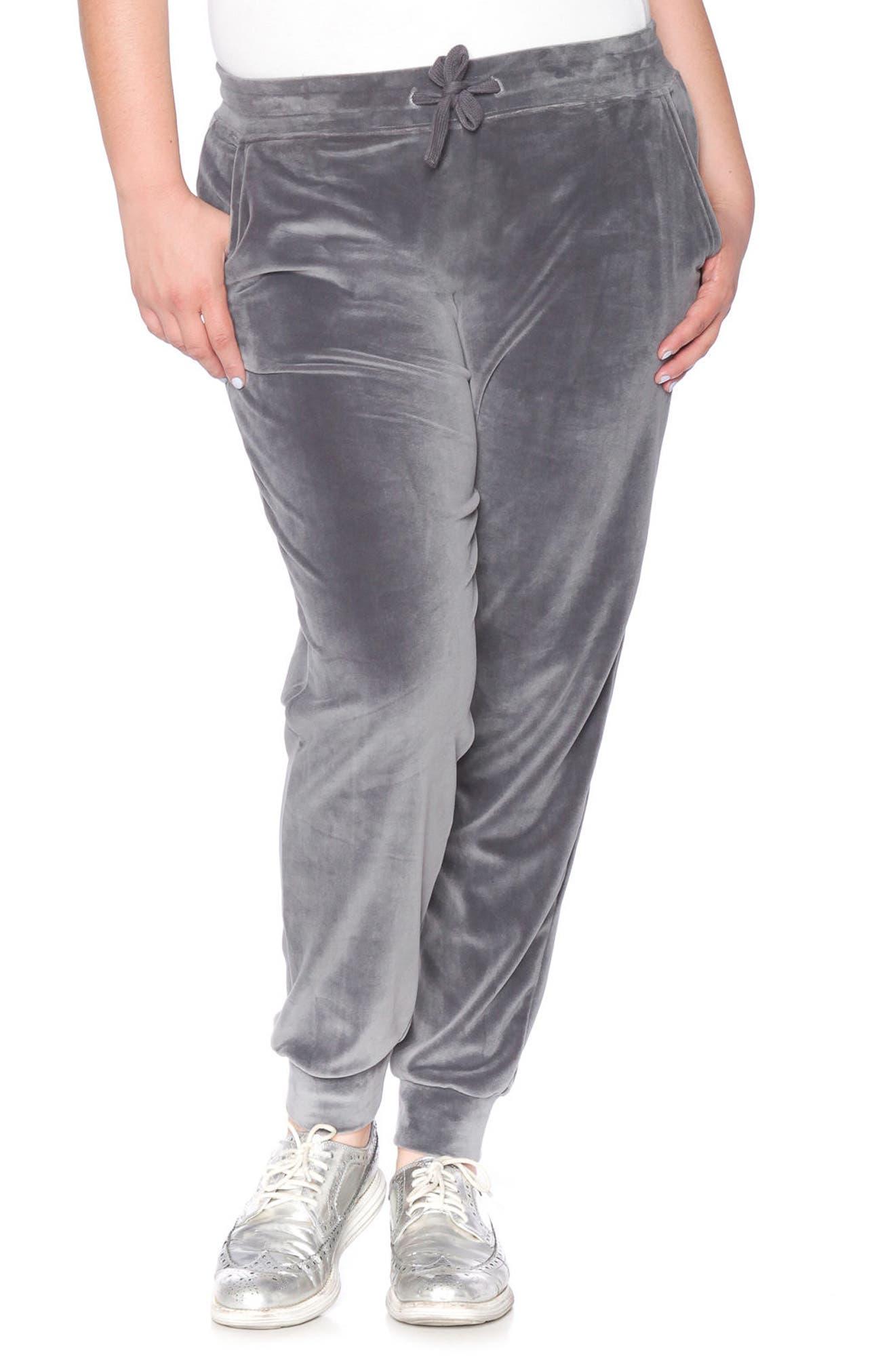 SLINK Jeans Velour Jogger Pants (Plus Size)